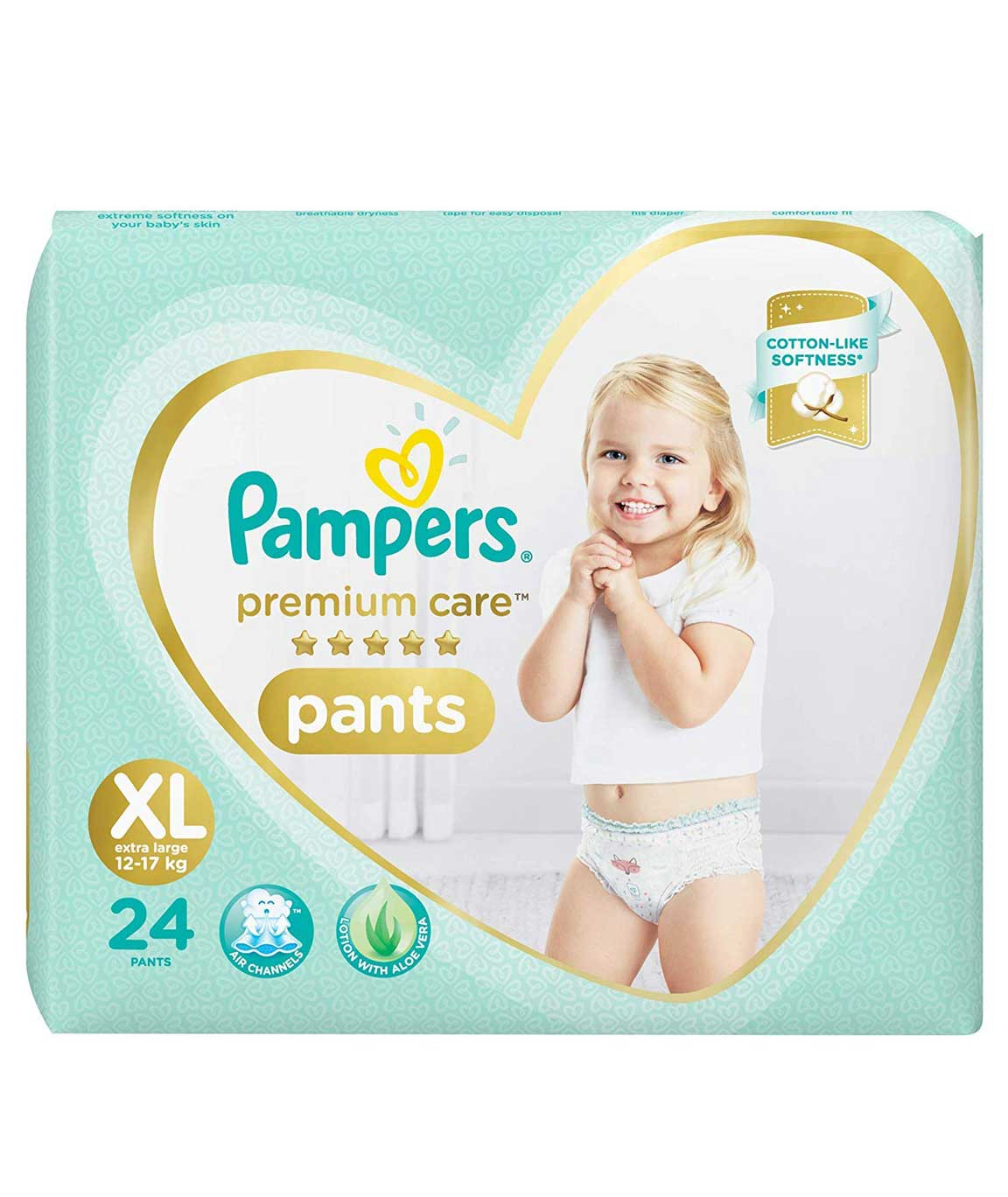 Pampers Premium Care Pants Diapers, X-Large, XL 24 Count