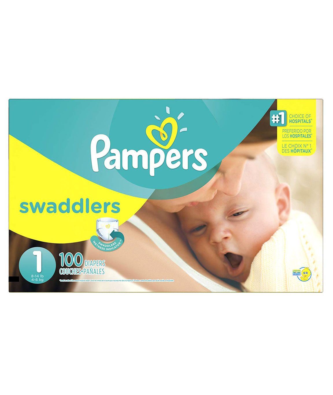 Pampers Swaddlers Newborn Diapers (Size 1, 100 Counts)
