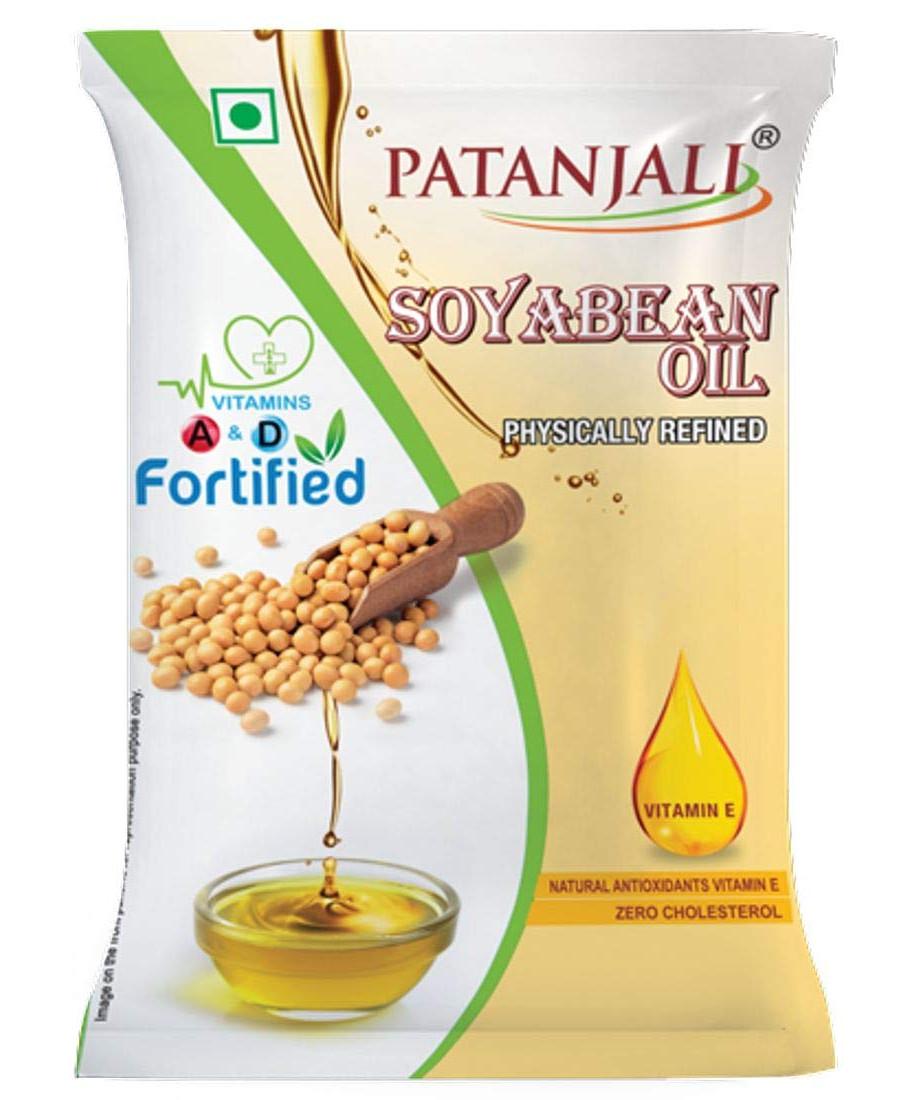 Patanjali Soyabean Oil, 1L Pouch
