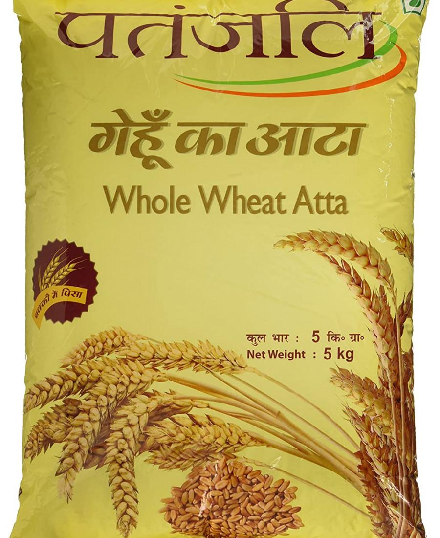 Patanjali Whole Wheat Atta, 5kg