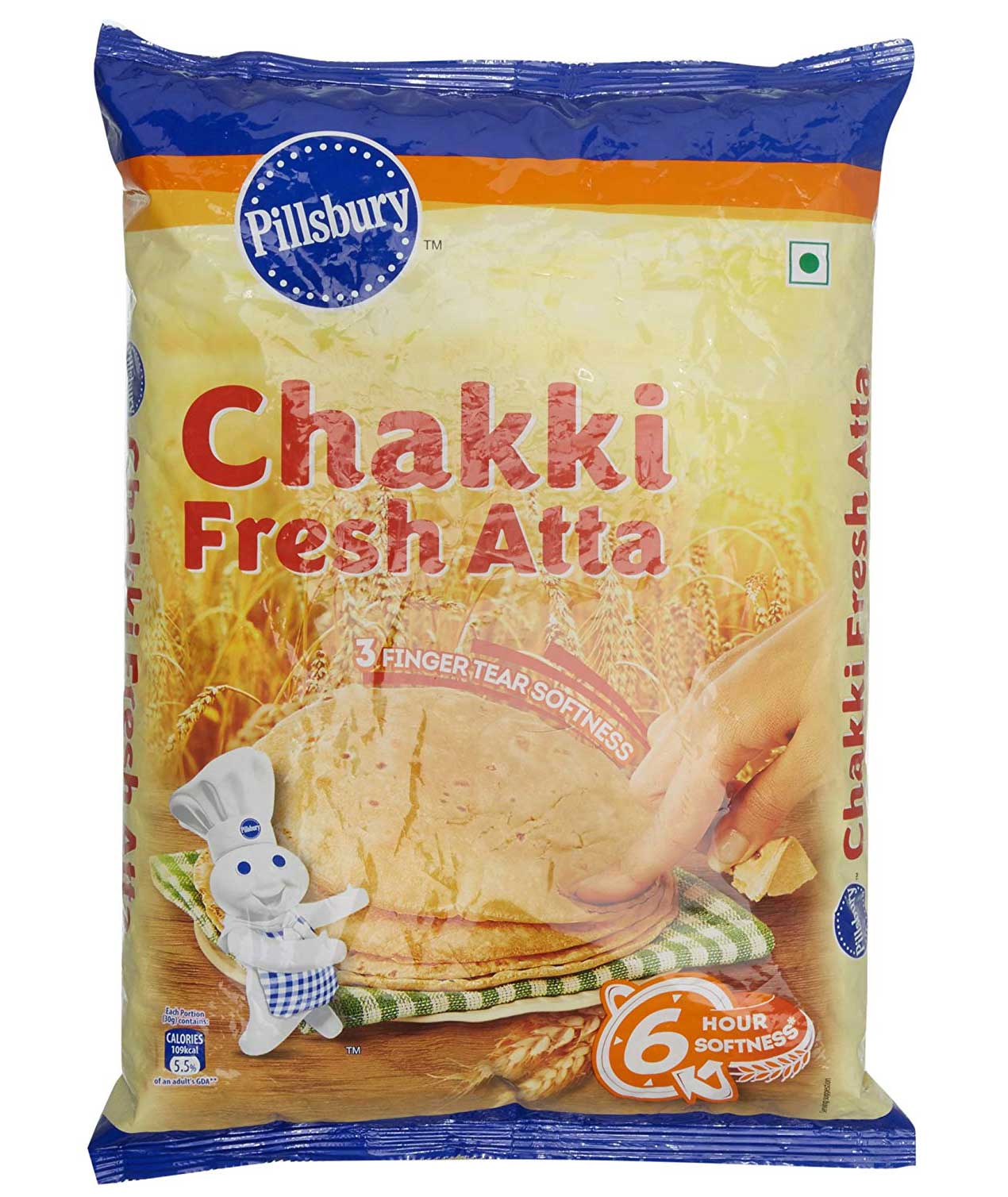 Pillsbury Chakki Fresh Atta, 5kg (North)