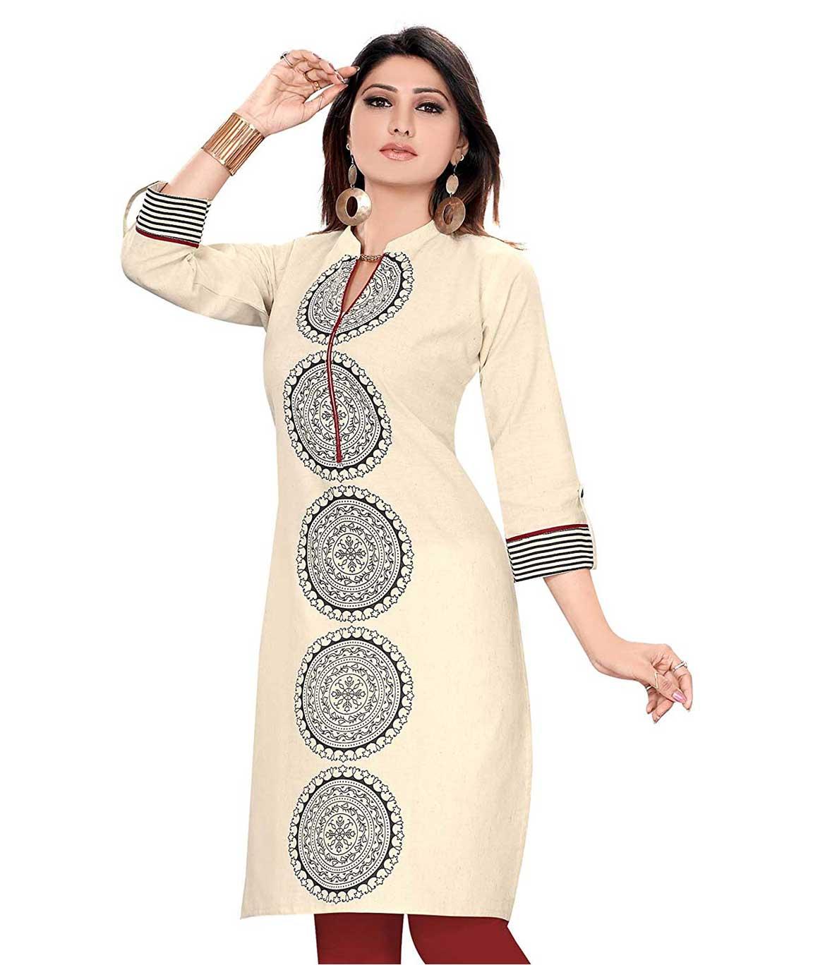 Plus Size Kurtis Handloom Cotton Cream Khadi Kurtis  1.0 out of 5 stars    1 customer review