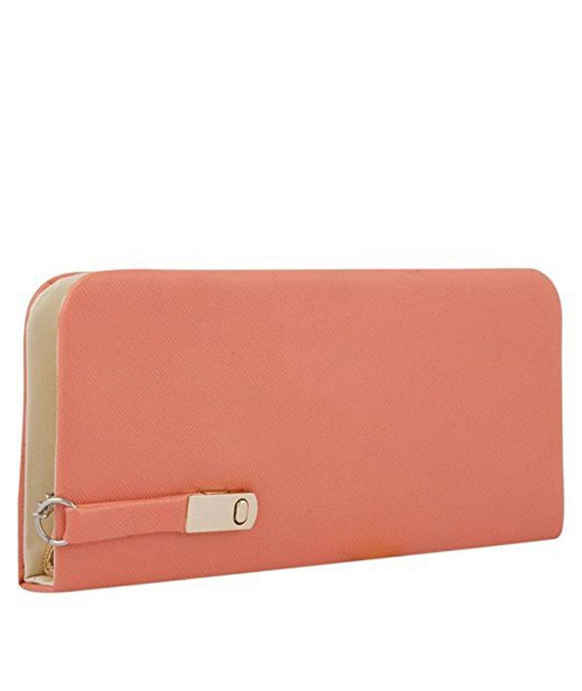 Rasm Fashion Women`s Clutch, Wallet(peach)