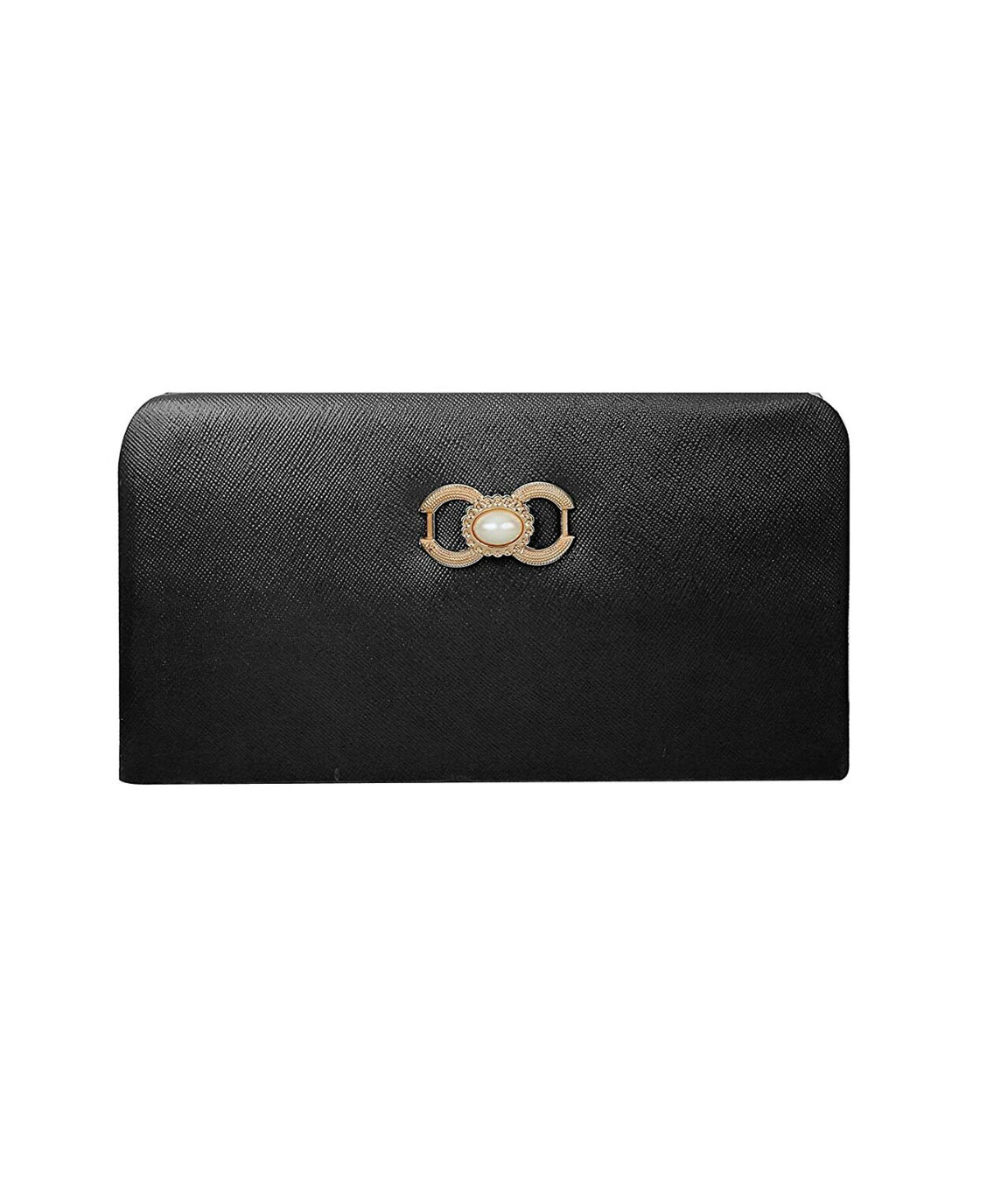 Rasm Lifestyle Beautiful Black Textured Clutch for Women and Girls
