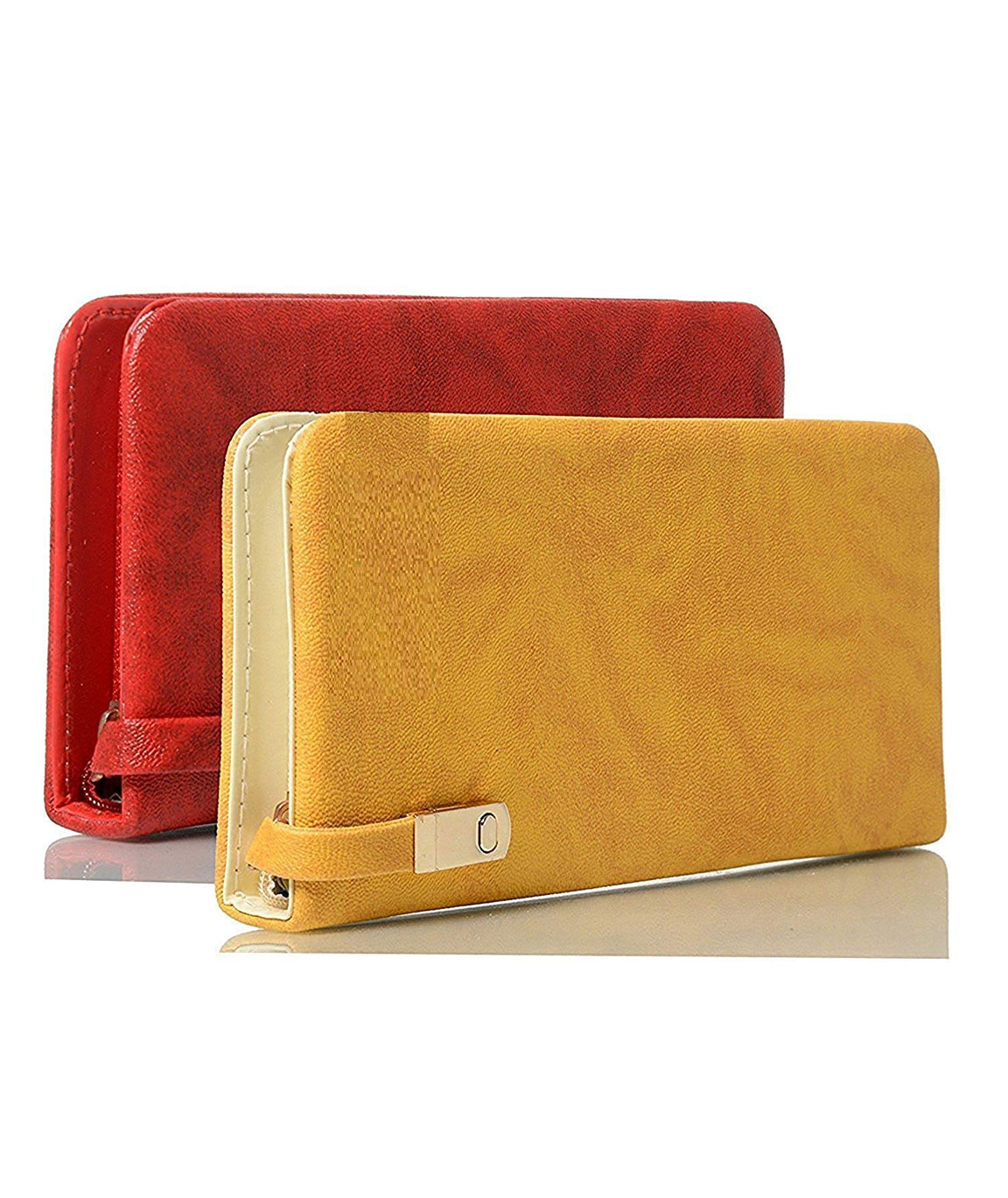 Rasm Lifestyle Women`s Clutch Combo Red And Yellow