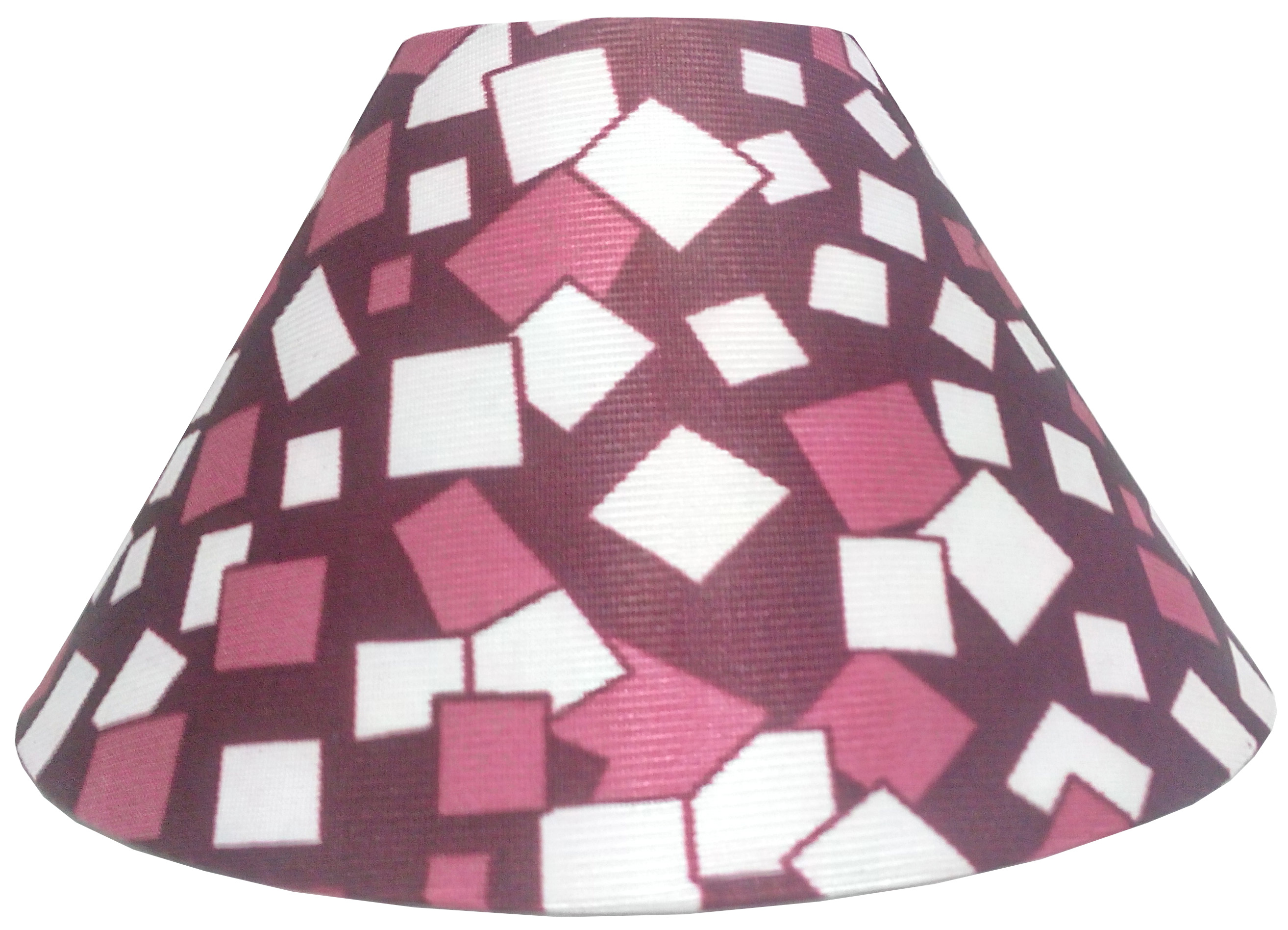 RDC 10 Inches Round Maroon Checks Designer Lamp Shade for Table Lamp