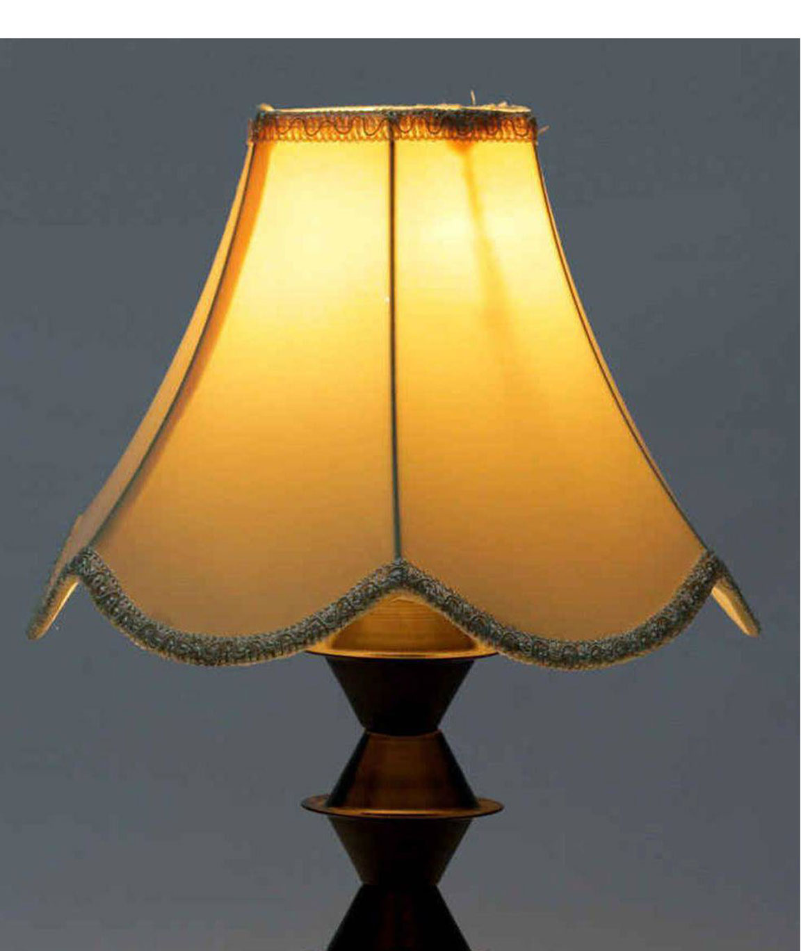 RDC 10 Inches Lotus-Shaped Cream with Lace Border Lamp Shade for Table Lamp (E27 Holder Ring)