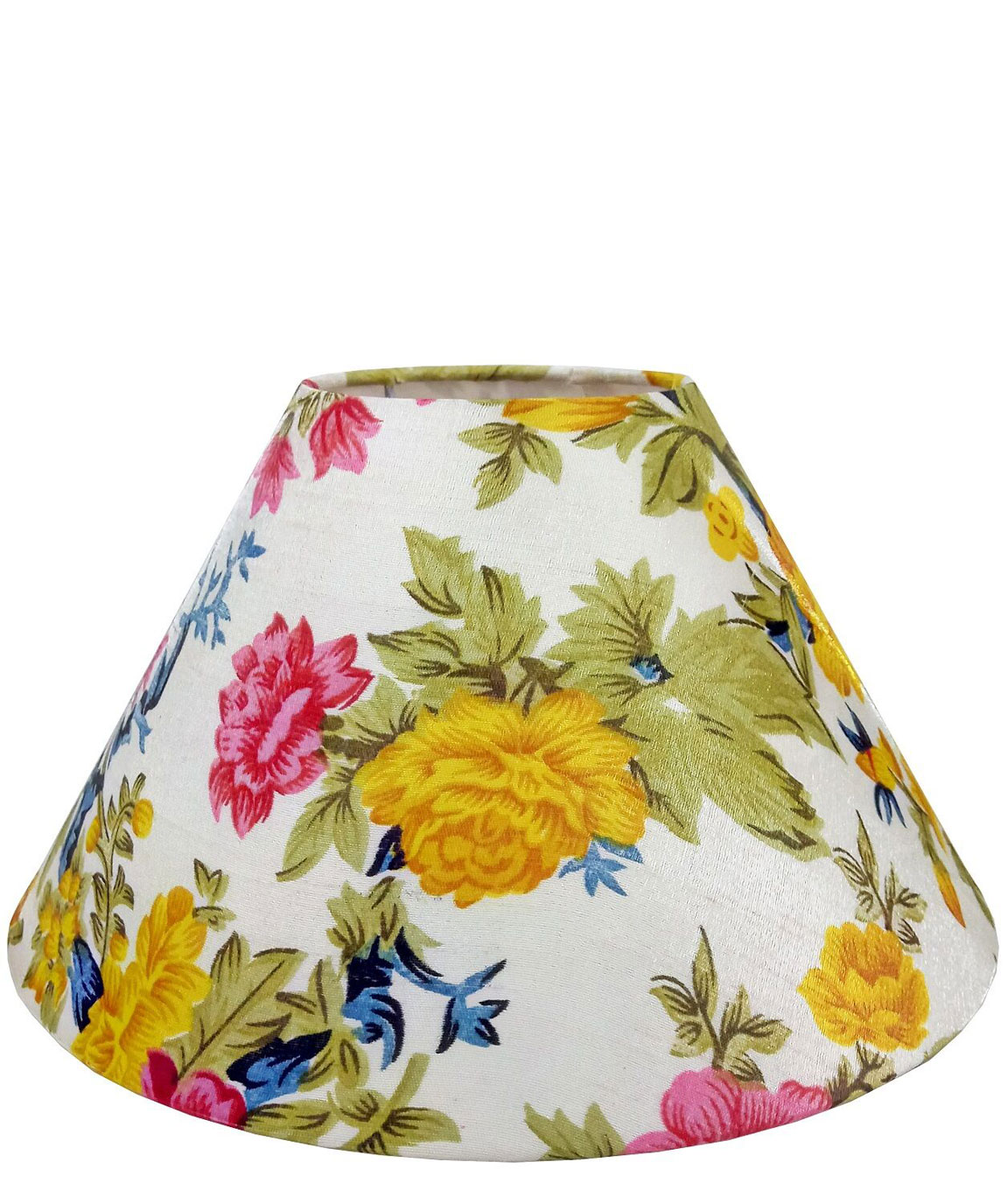 RDC 10 Inches Round Multicolour Floral Lamp Shade for Table Lamp