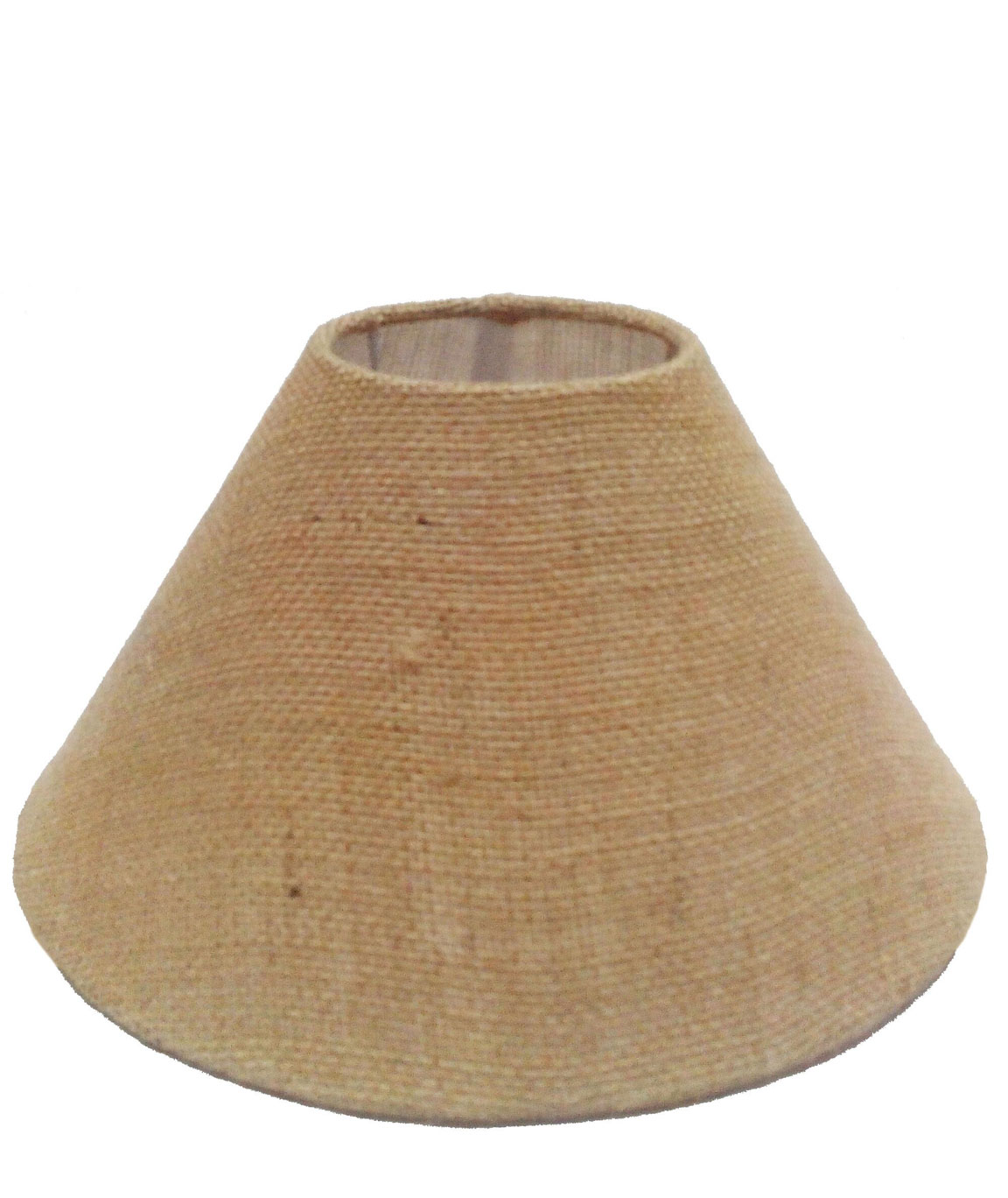 RDC 10 Inches Round Sand Brown Jute Lamp Shade for Table Lamp (E27 Holder Ring)