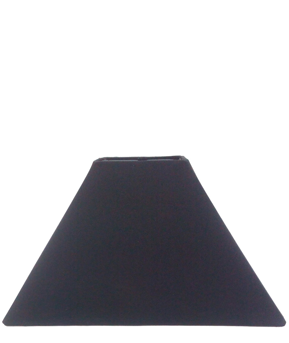 RDC 10 Inches Square Plain Black Lamp Shade for Table Lamp