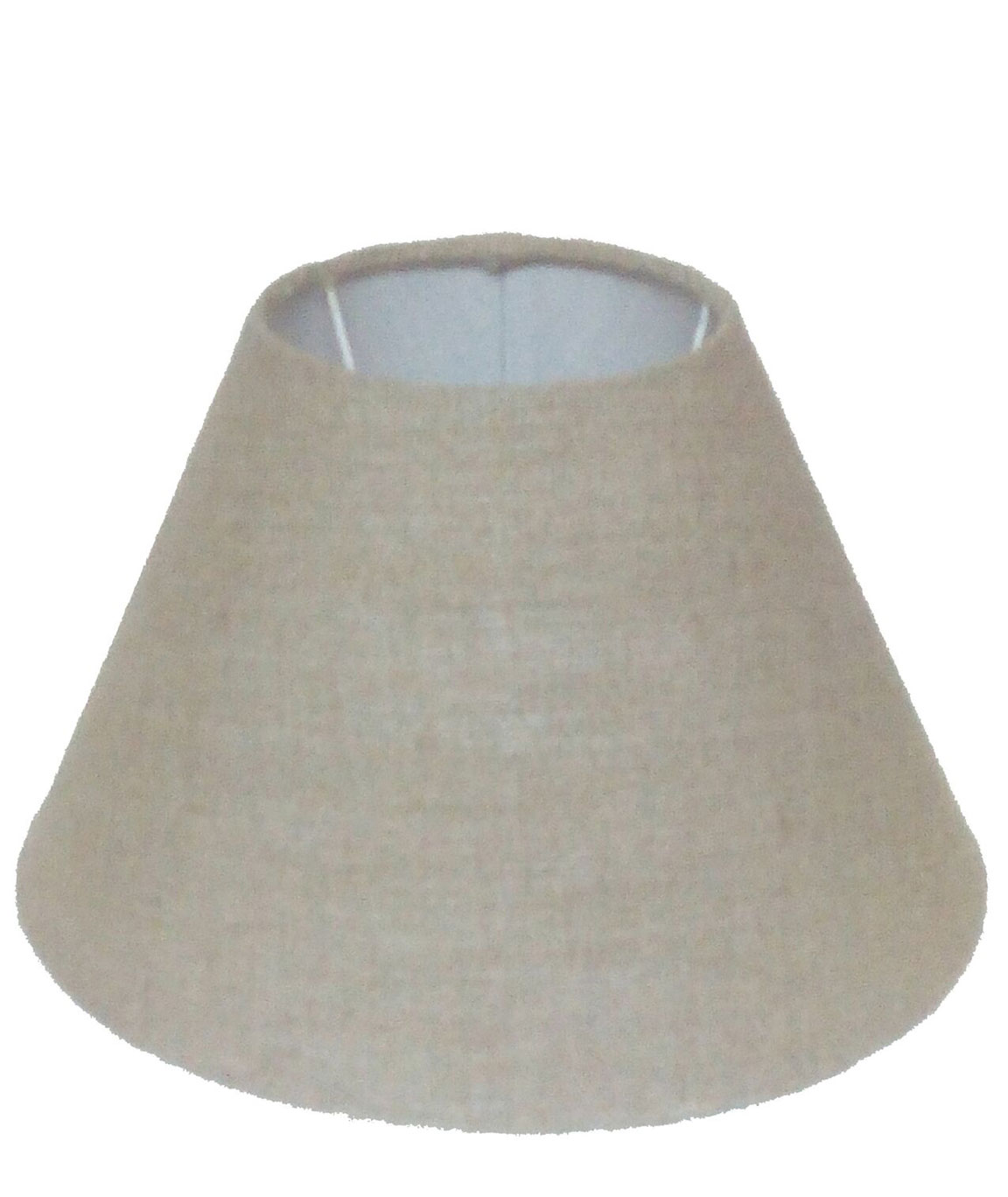 RDC 11 Inches Round Sand Brown Jute Lamp Shade for Table Lamp (E27 Holder Ring)