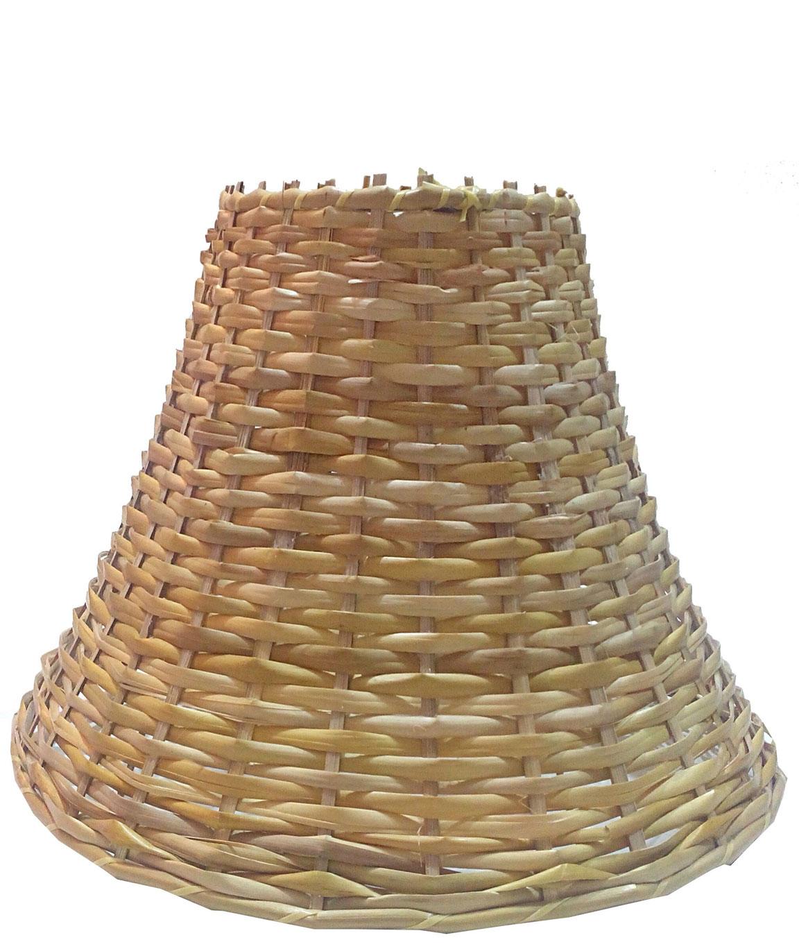 RDC 12 Inches Round Slanting Cane Hanging Pendant Lamp Shade