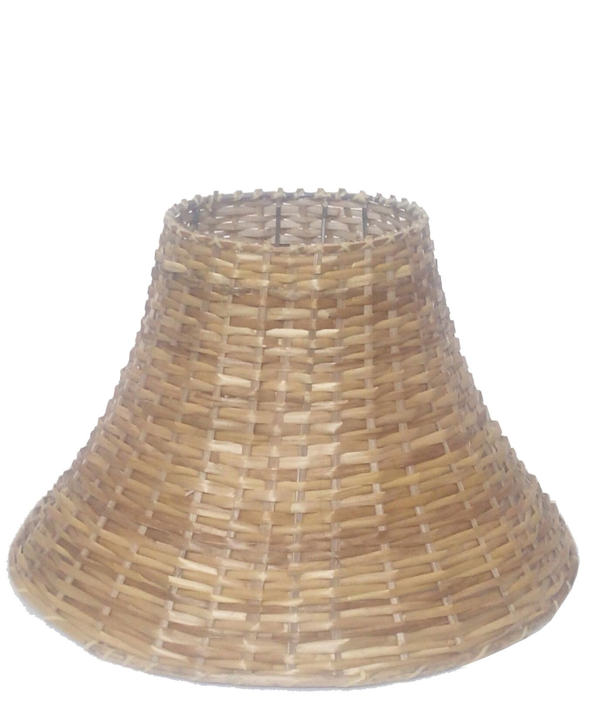 RDC 12 Inches Round Slanting Cane Lamp Shade for Table Lamp