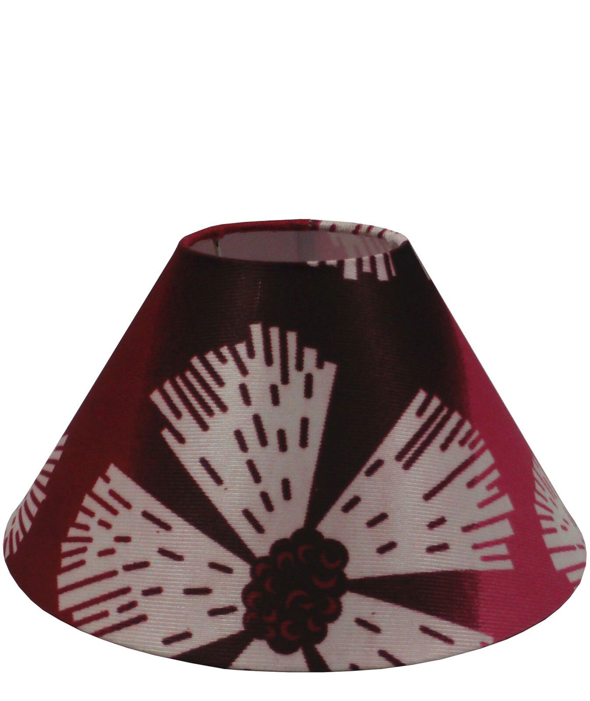 RDC 10 Inches Round Maroon Pink Floral Designer Lamp Shade for Table Lamp