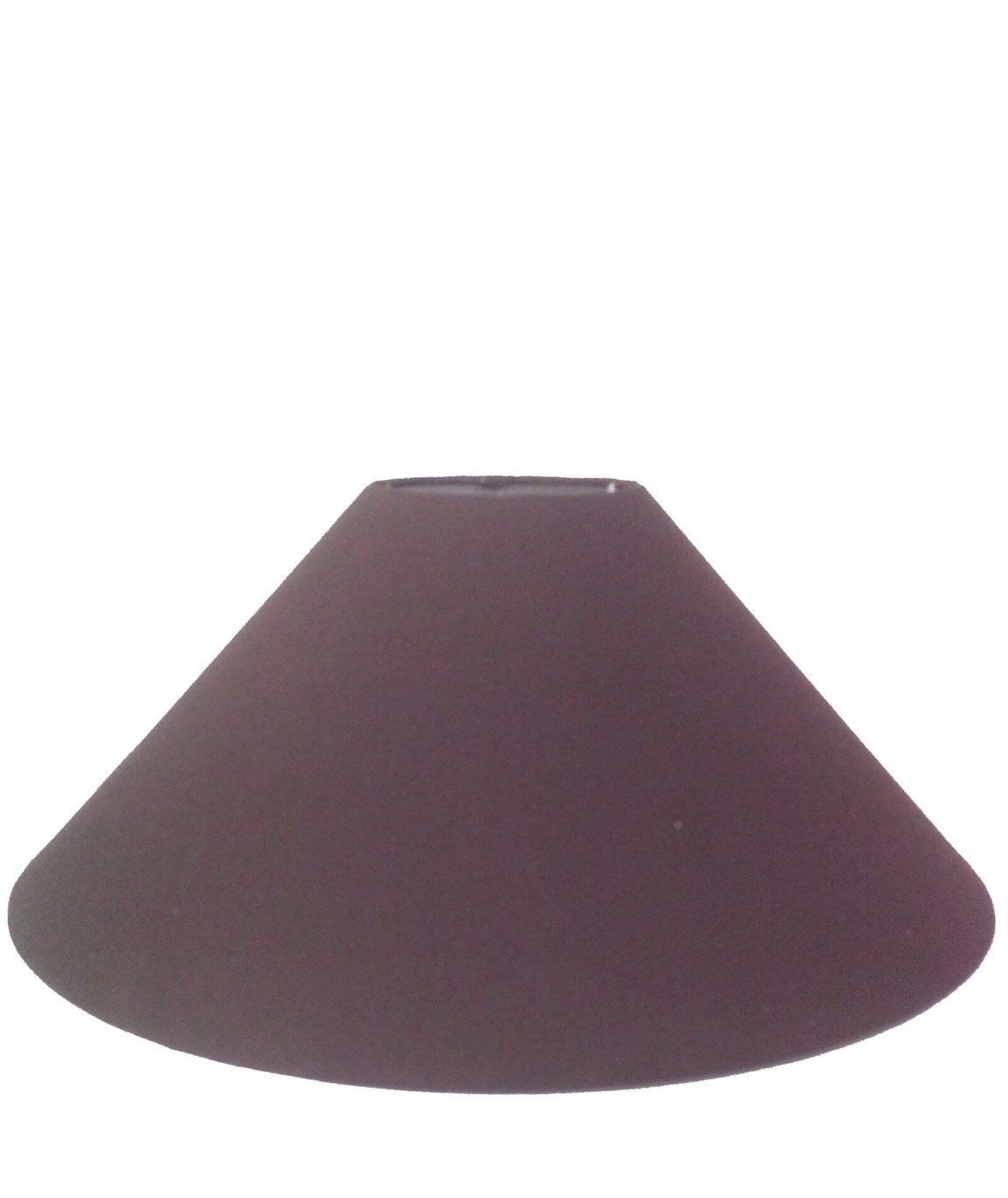 RDC 13 Inches Round Plain Dark Brown Lamp Shade for Table Lamp