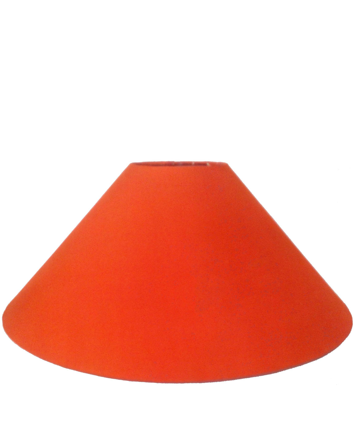 RDC 13 Inches Round Plain Orange Lamp Shade for Table Lamp