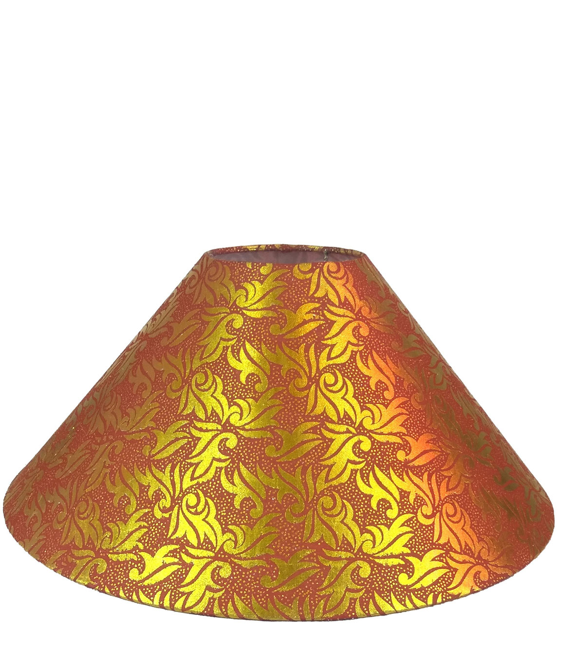 RDC 13 Inches Round Red Golden Designer Lamp Shade for Lamp