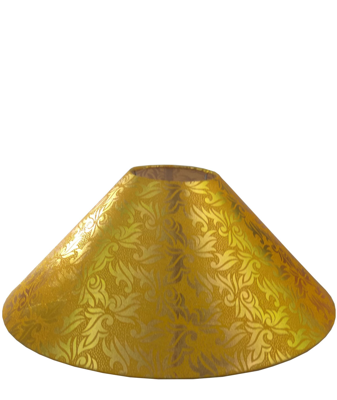 RDC 13 Inches Round Yellow with Golden Designer Lamp Shade for Table Lamp