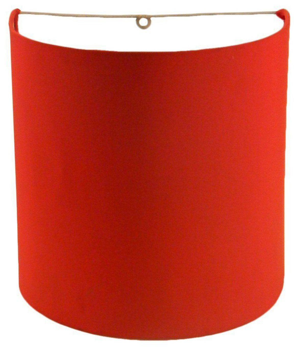 RDC 23 CMS Red Half-cylindrical Wall Hanging Lamp Shade