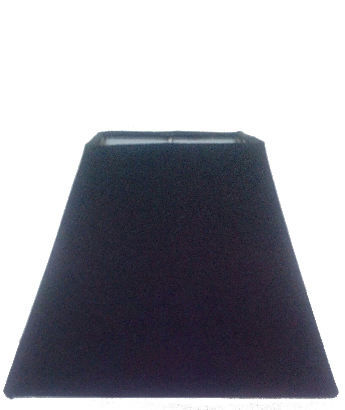 RDC 8 Inches Square Plain Black Lamp Shade for Table Lamp