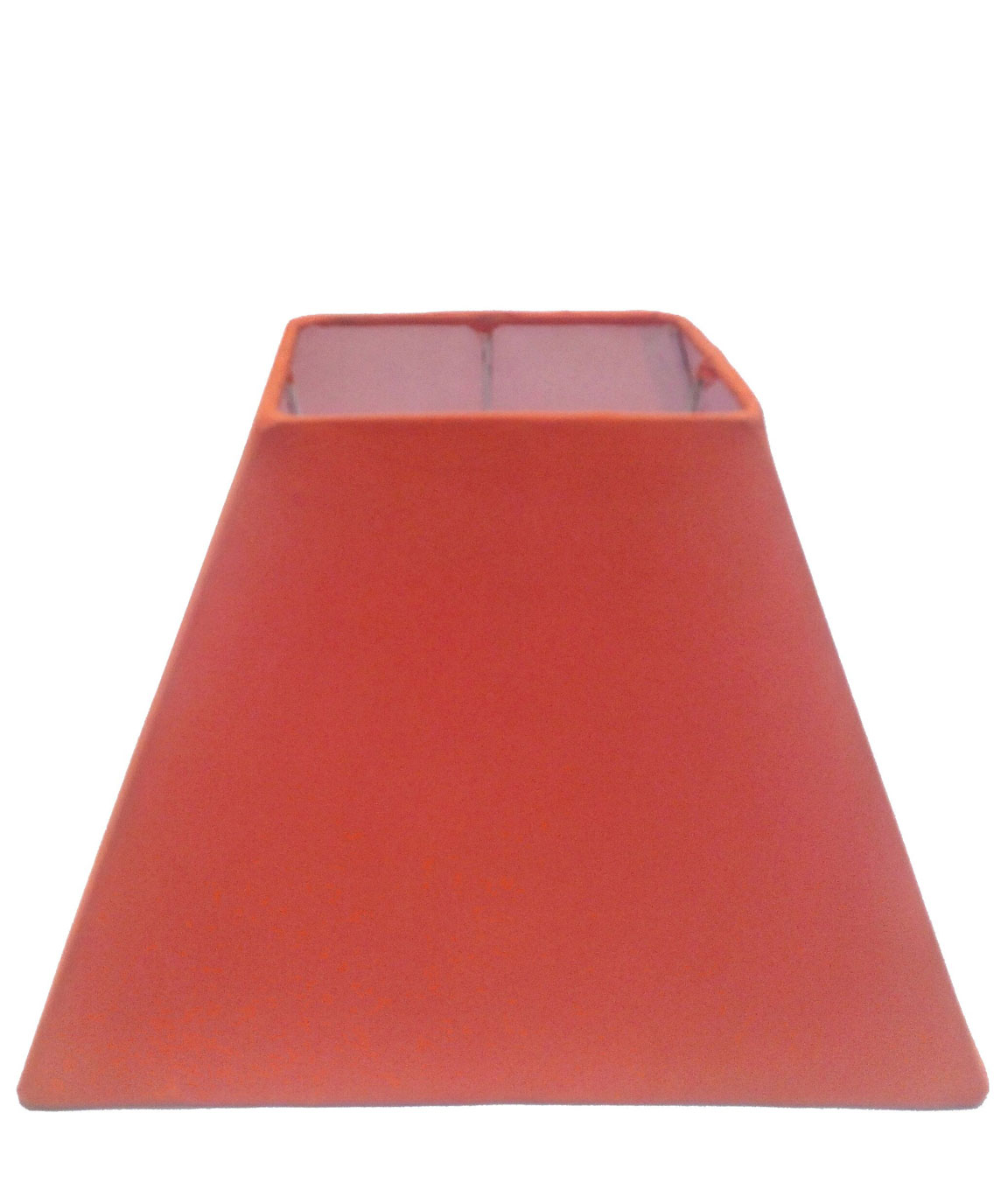RDC 8 Inches Square Plain Orange Lamp Shade for Table Lamp