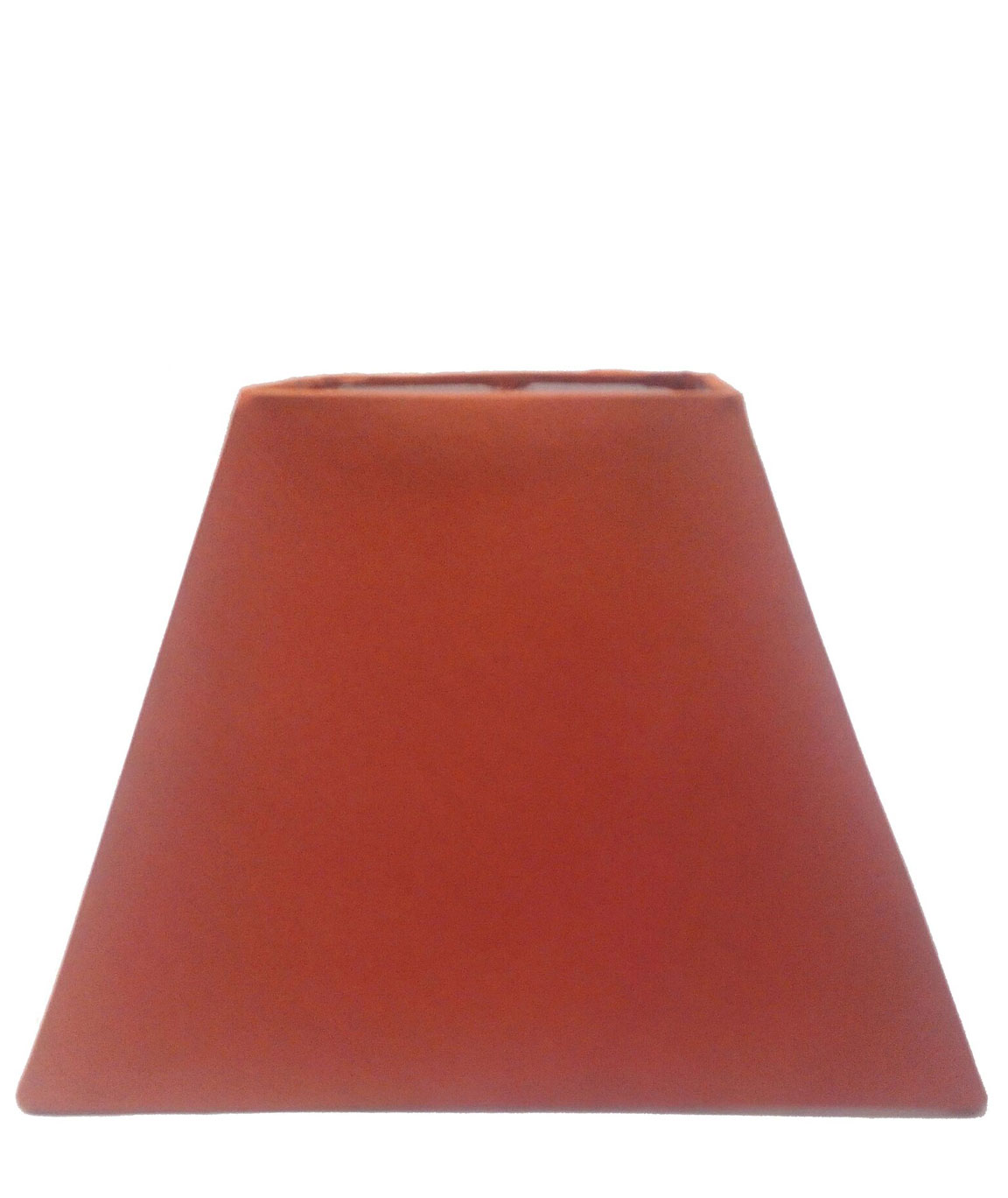 RDC 8 Inches Square Plain Rust Lamp Shade for Table Lamp