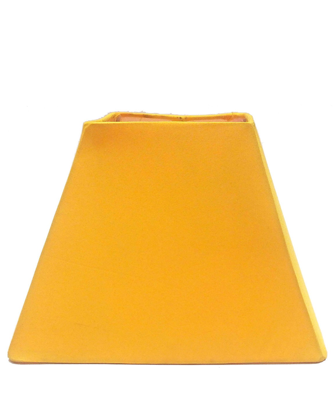 RDC 8 Inches Square Plain Yellow Lamp Shade for Table Lamp