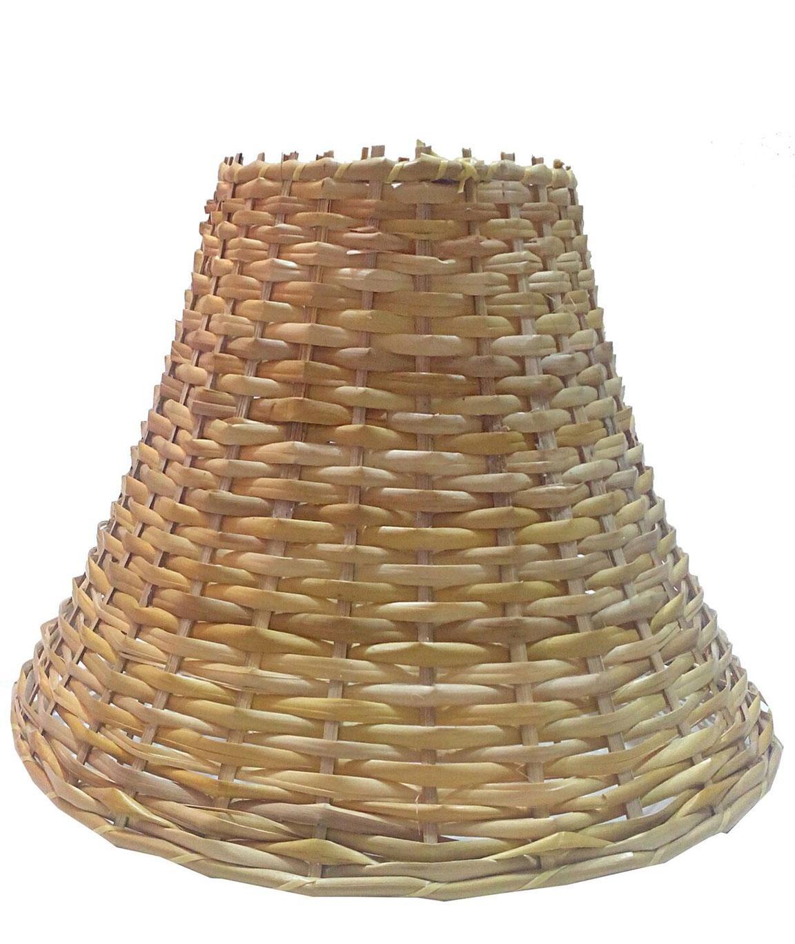 RDC 9 Inches Round Slanting Cane Hanging Pendant Lamp Shade
