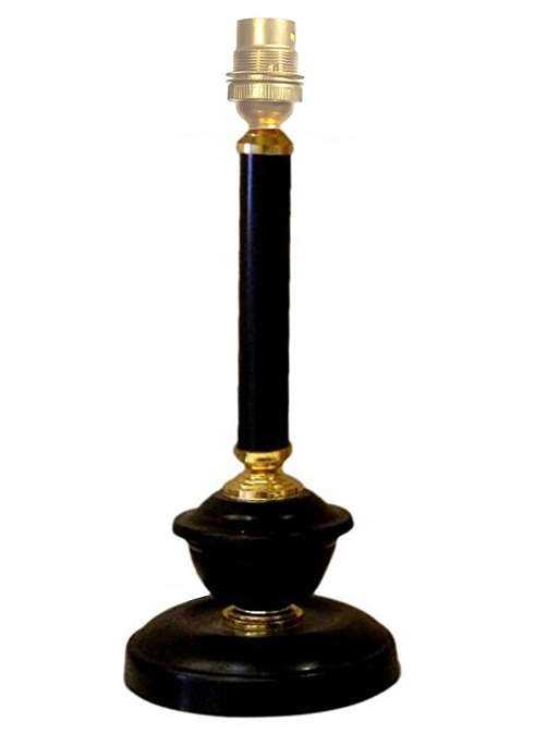 RDC Black with Golden Metallic Table Lamp Base