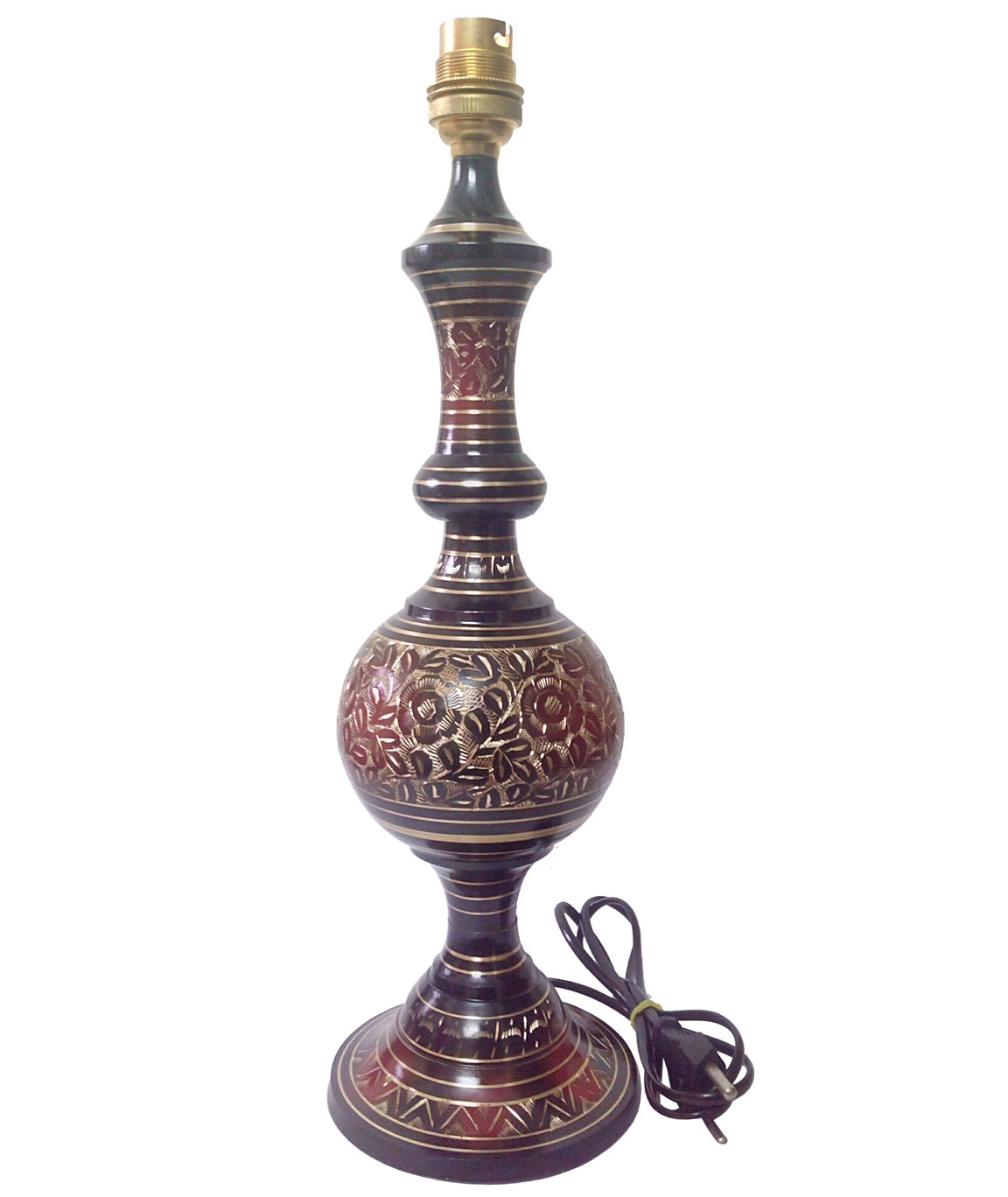 RDC Brass Hand-Carved Table Lamp Base