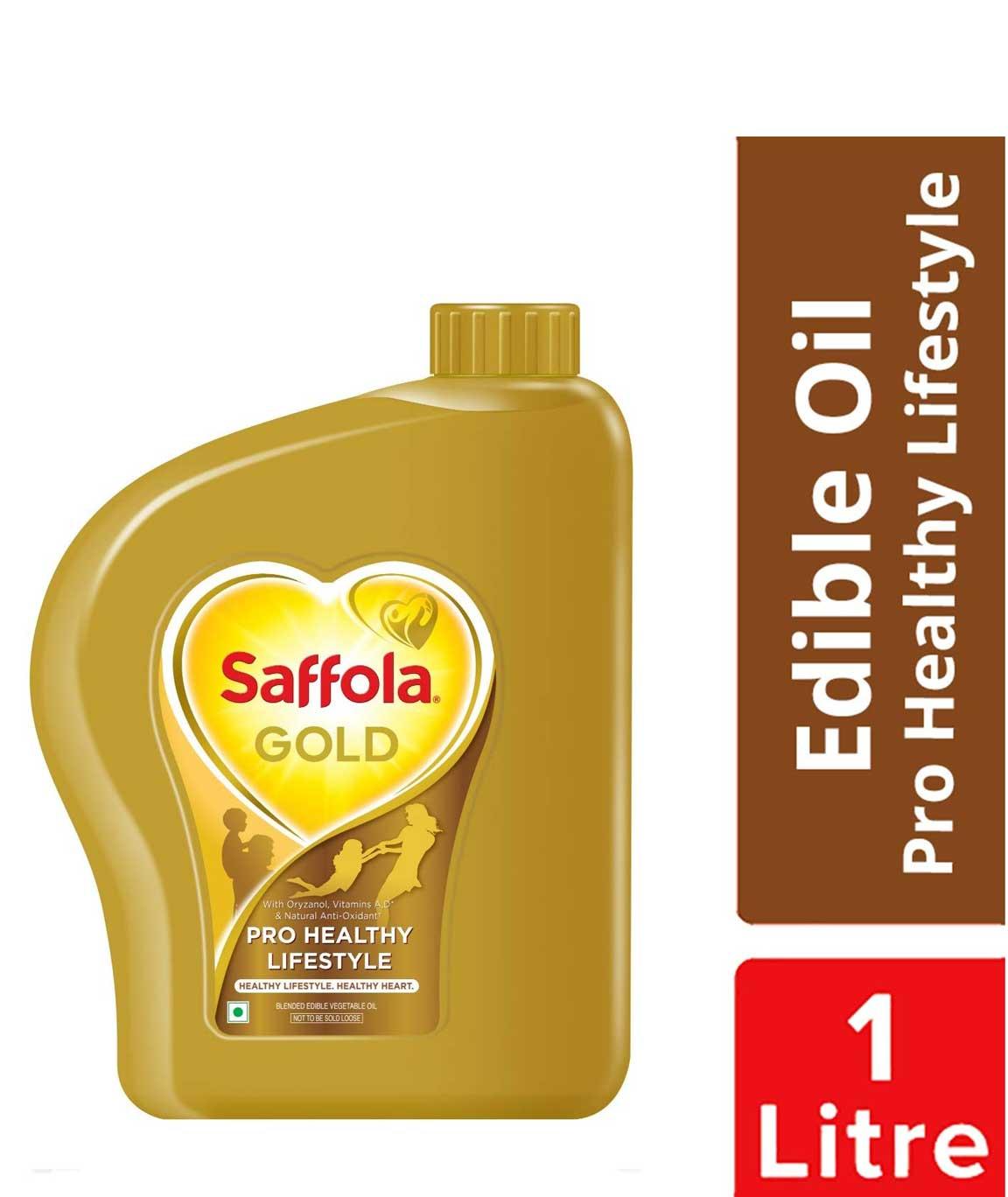 Saffola Gold, Pro Healthy Lifestyle Edible Oil, Jar, 1 L