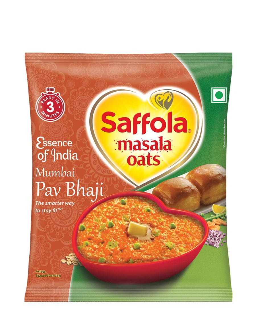 Saffola Masala Oats - Mumbai Pav Bhaji, 32 gm