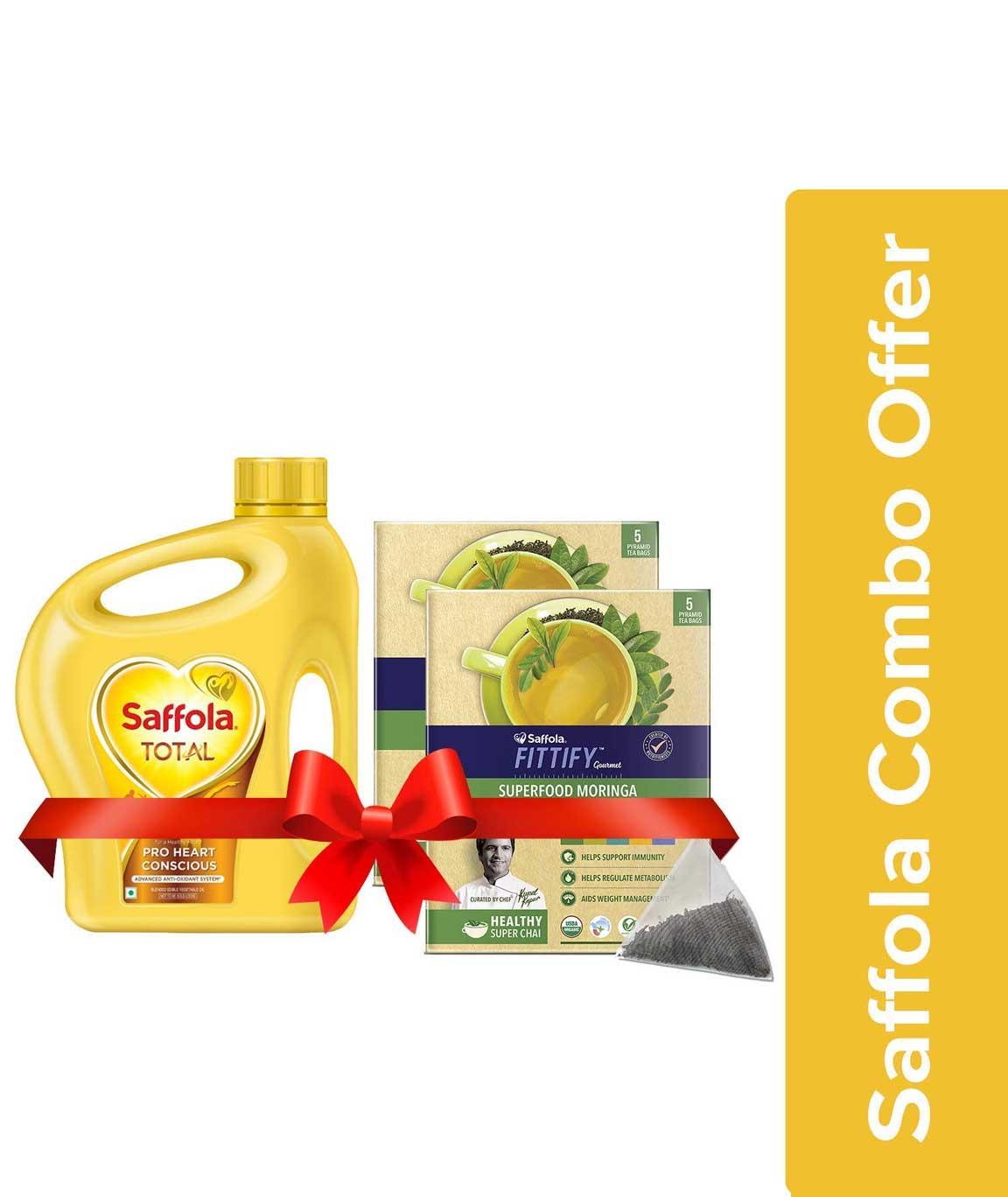 Saffola Total Pro Heart Conscious Edible Oil, 2 L