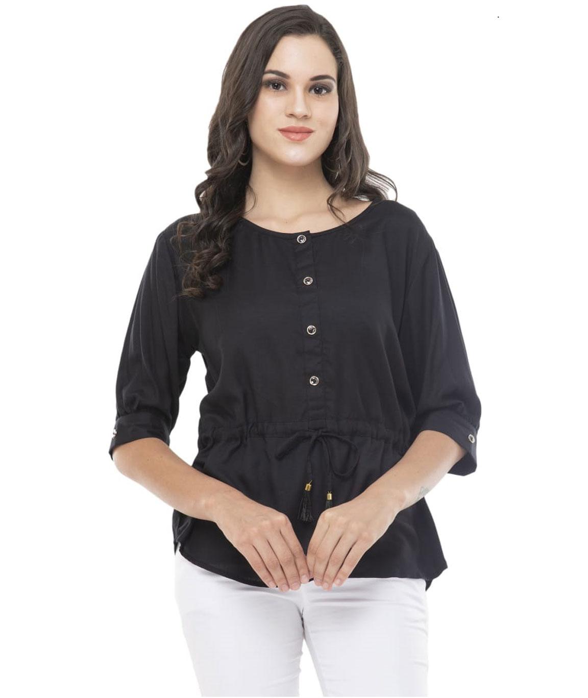 Sanskriti Heavy Premium Quality Rayon  Slub Womens Top