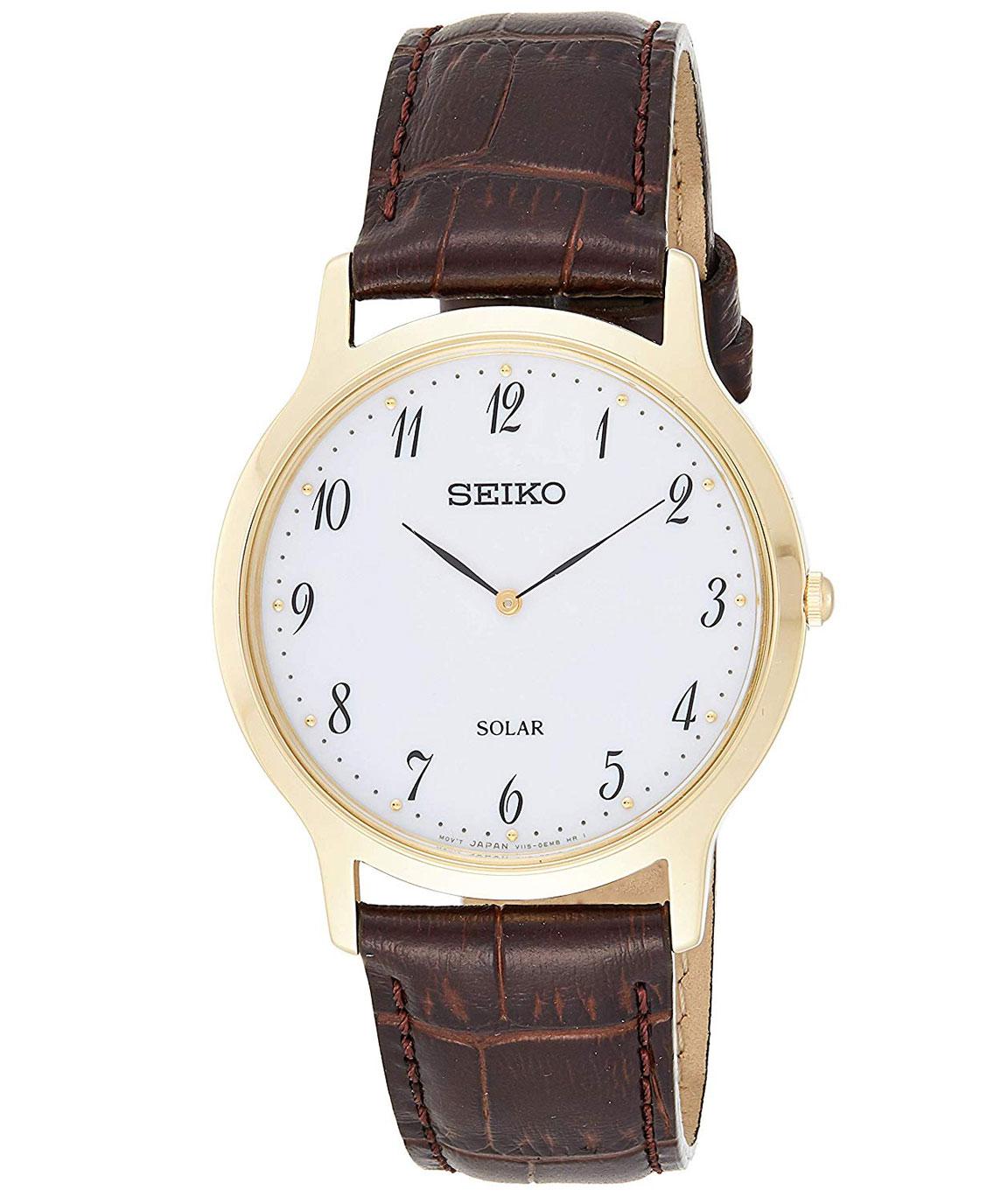 Seiko Analog White Dial Men`s Watch