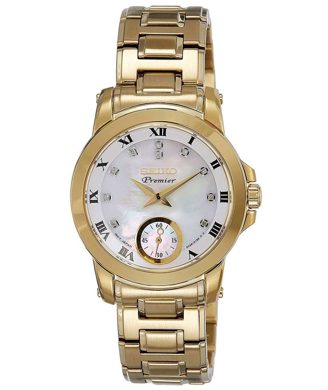 Seiko Premier Analog Mother of Pearl Dial Women`s Watch