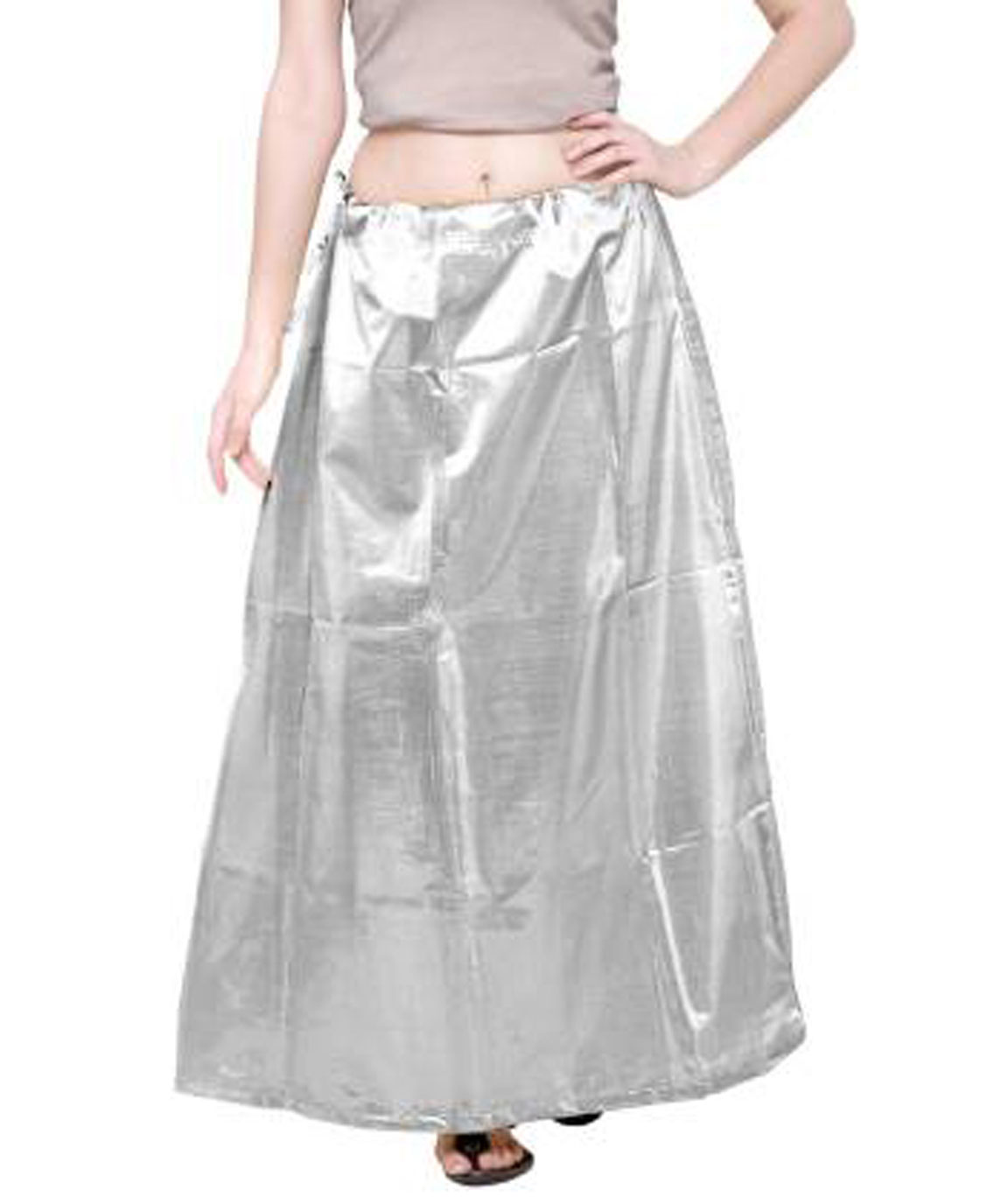 SILVERLSHIMMERPTC48 LEATHER SHIMMER PETTICOAT (XL)