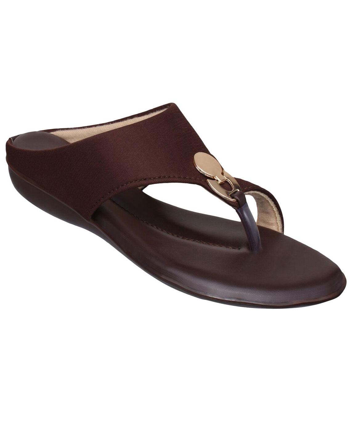 Sindhi Footwear Men`s Brown Faux Leather Flats