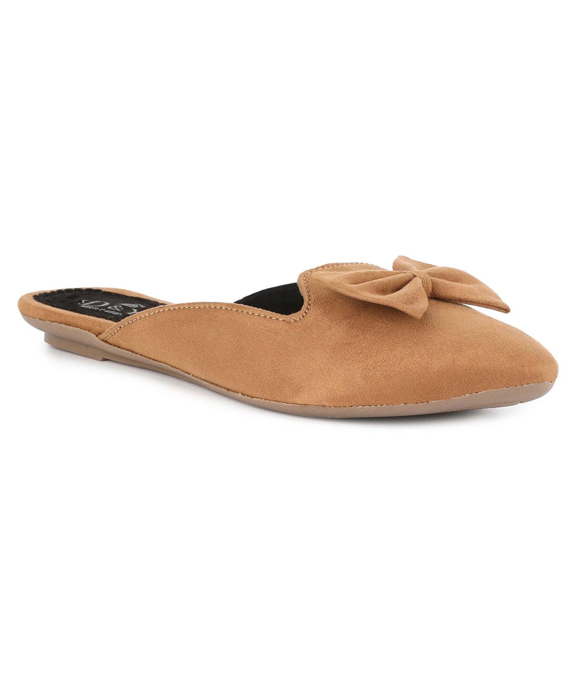 Sindhi Footwear Women`s Beige Rexin Casual Ballerinas