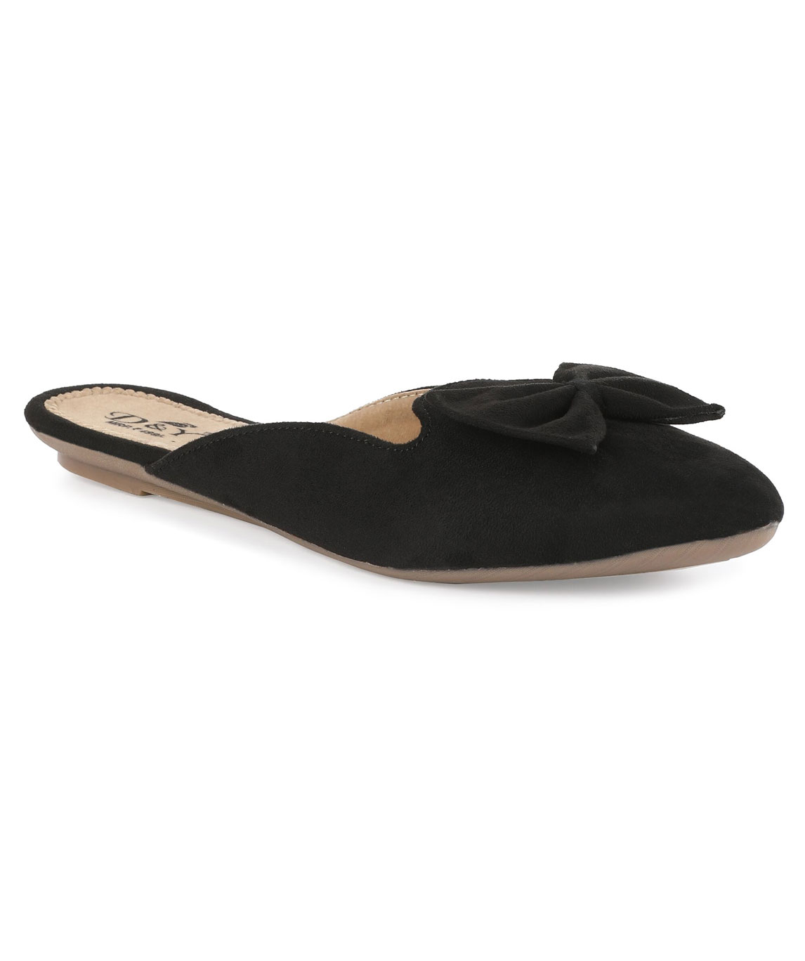 Sindhi Footwear Women`s Black Rexin Casual Ballerinas