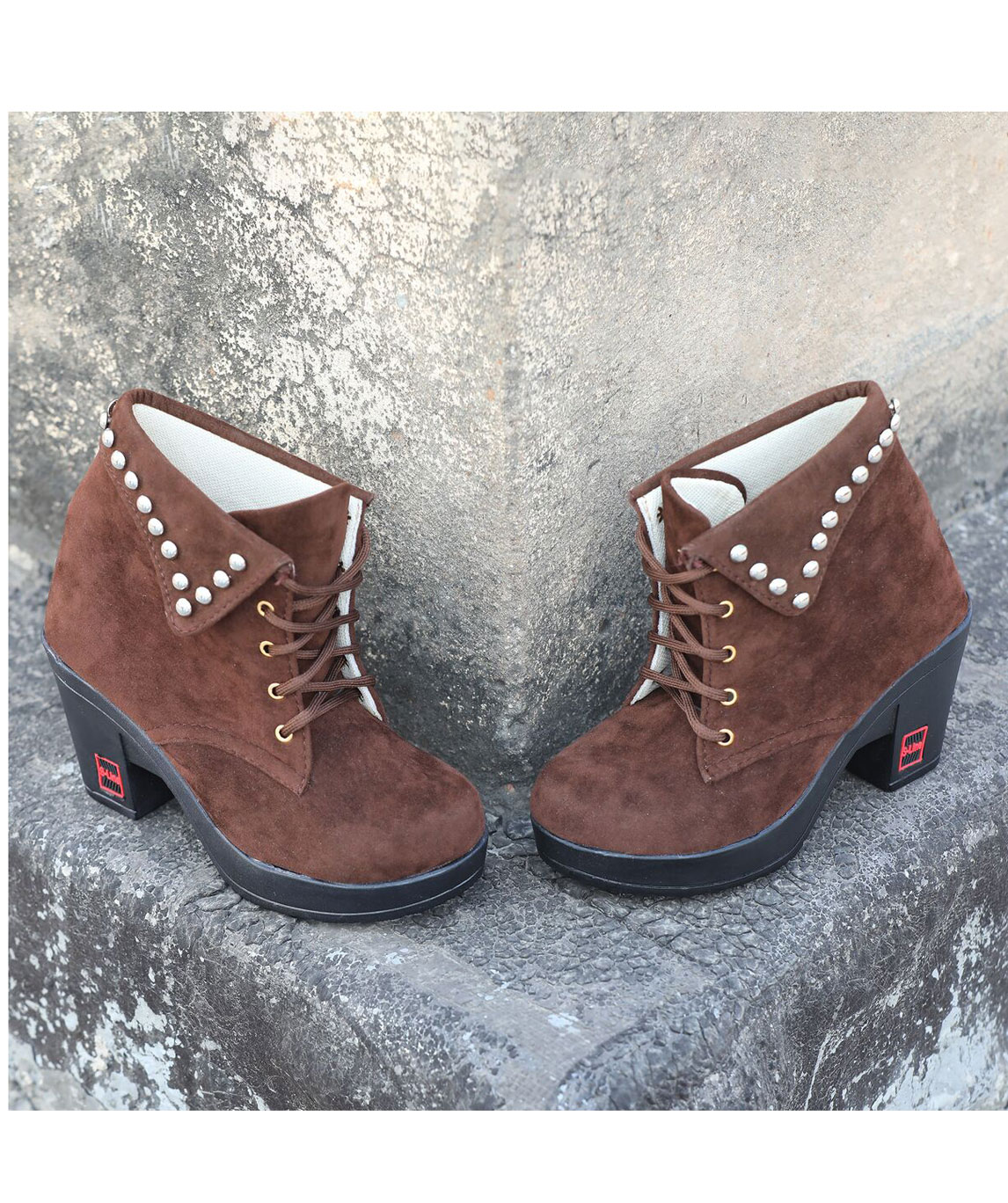 Sindhi Footwear Women`s Brown Synthetic Leather Boot