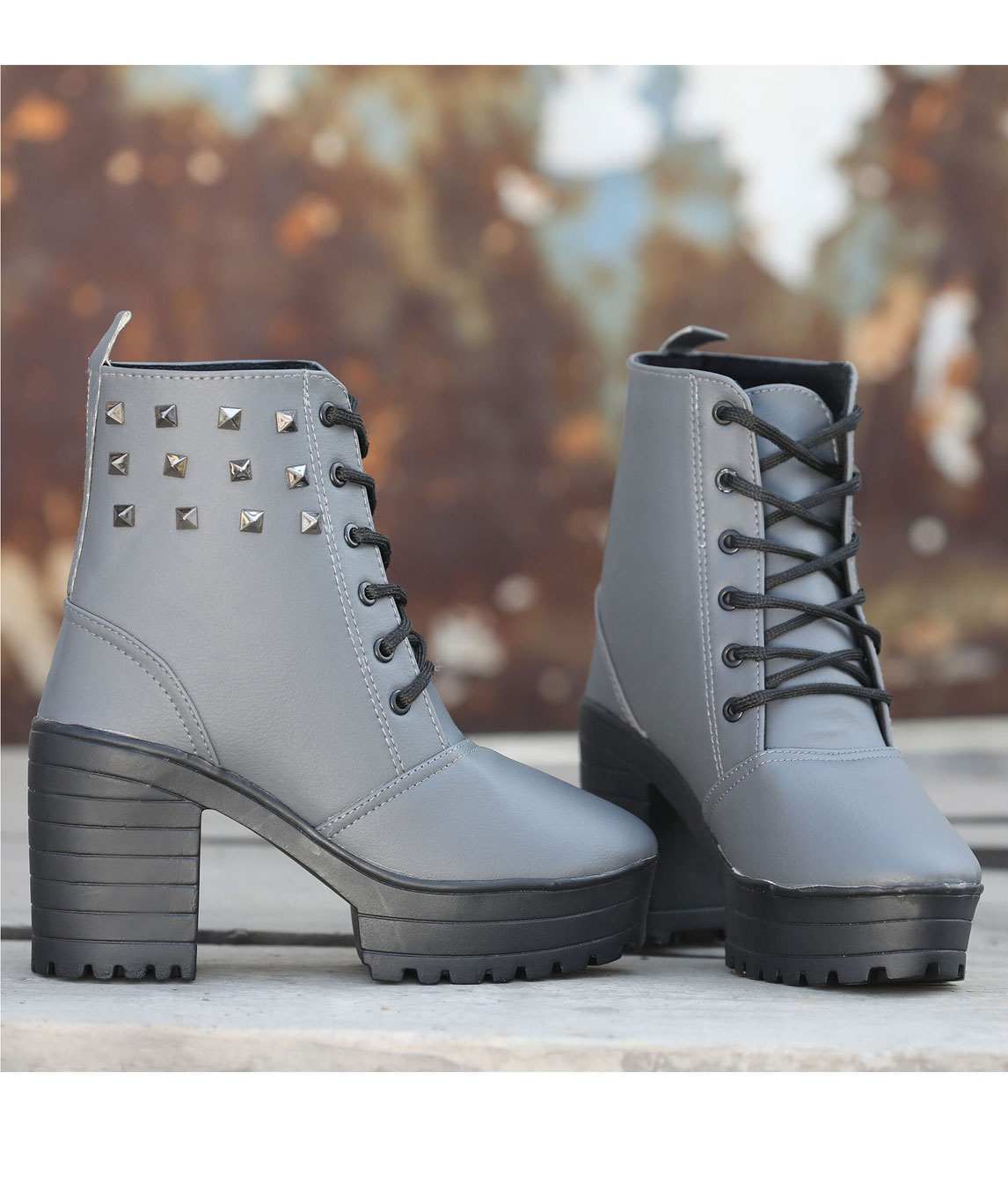 Sindhi Footwear Women`s Grey Synthetic Leather Boot