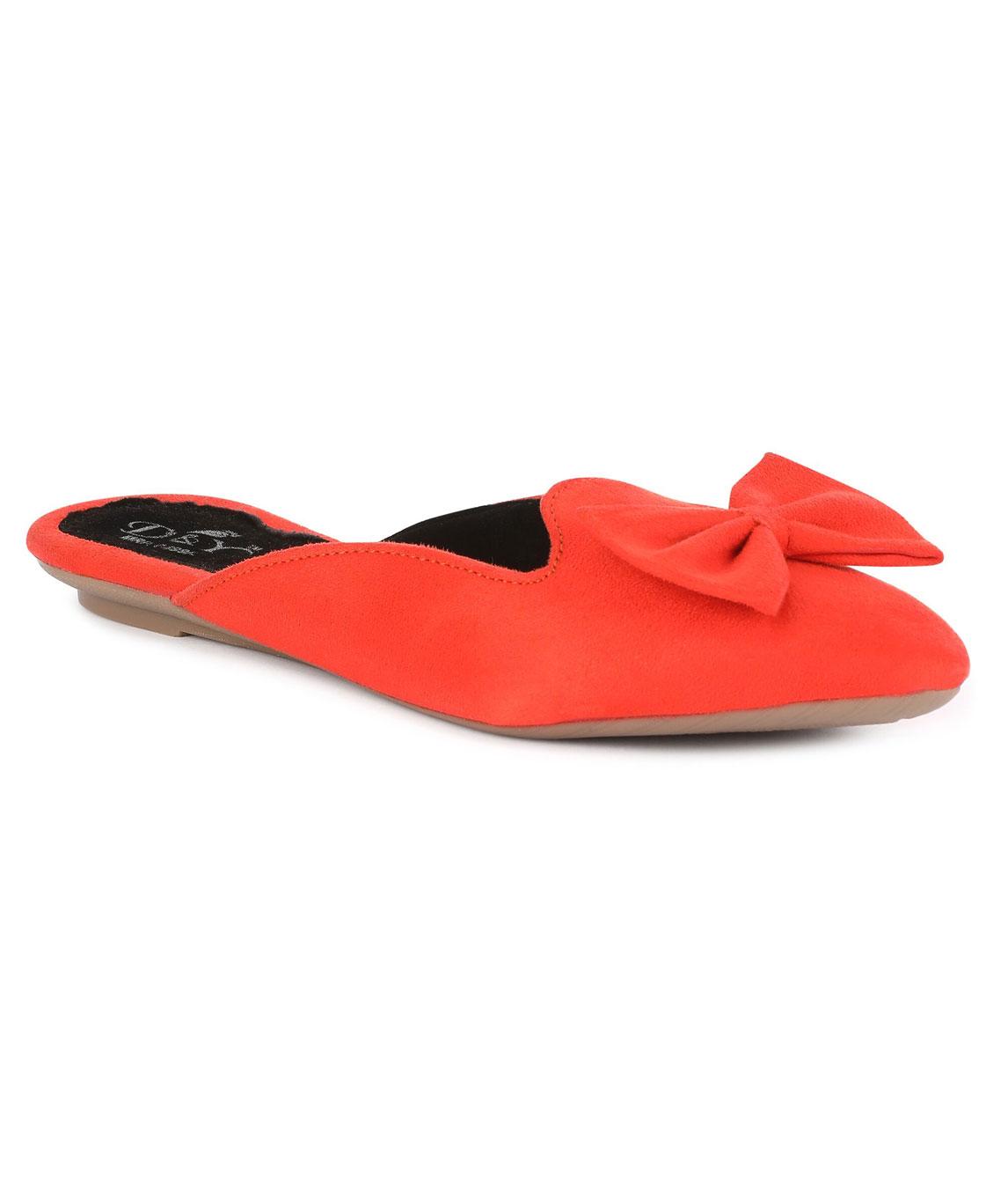 Sindhi Footwear Women`s Orange Rexin Casual Ballerinas