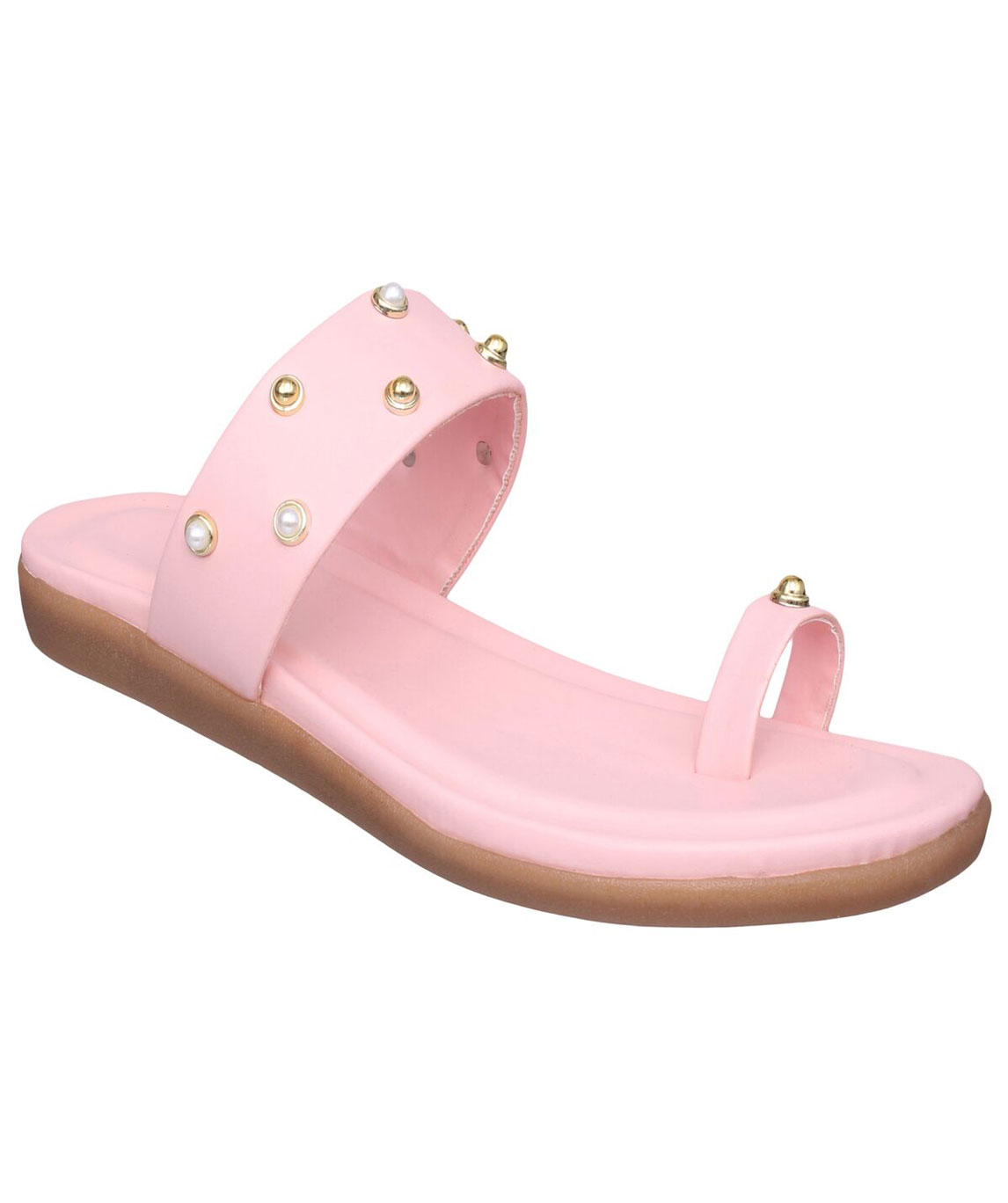Sindhi Footwear Women`s Pink Rexin Casual Flats