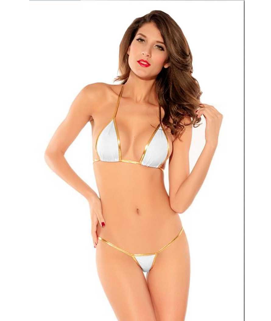Solid Women Bikini White Swimsuit
