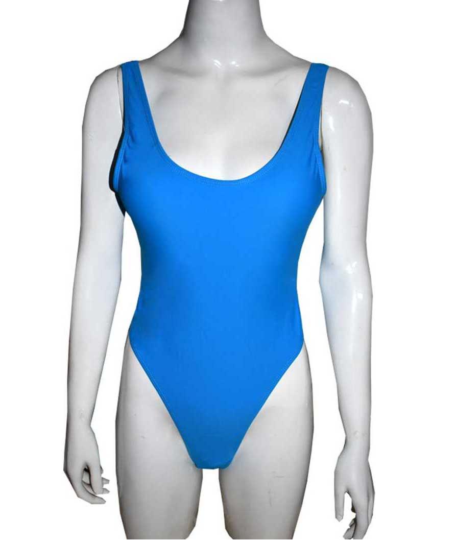 Solid Women Swim-dress Blue Swimsuit