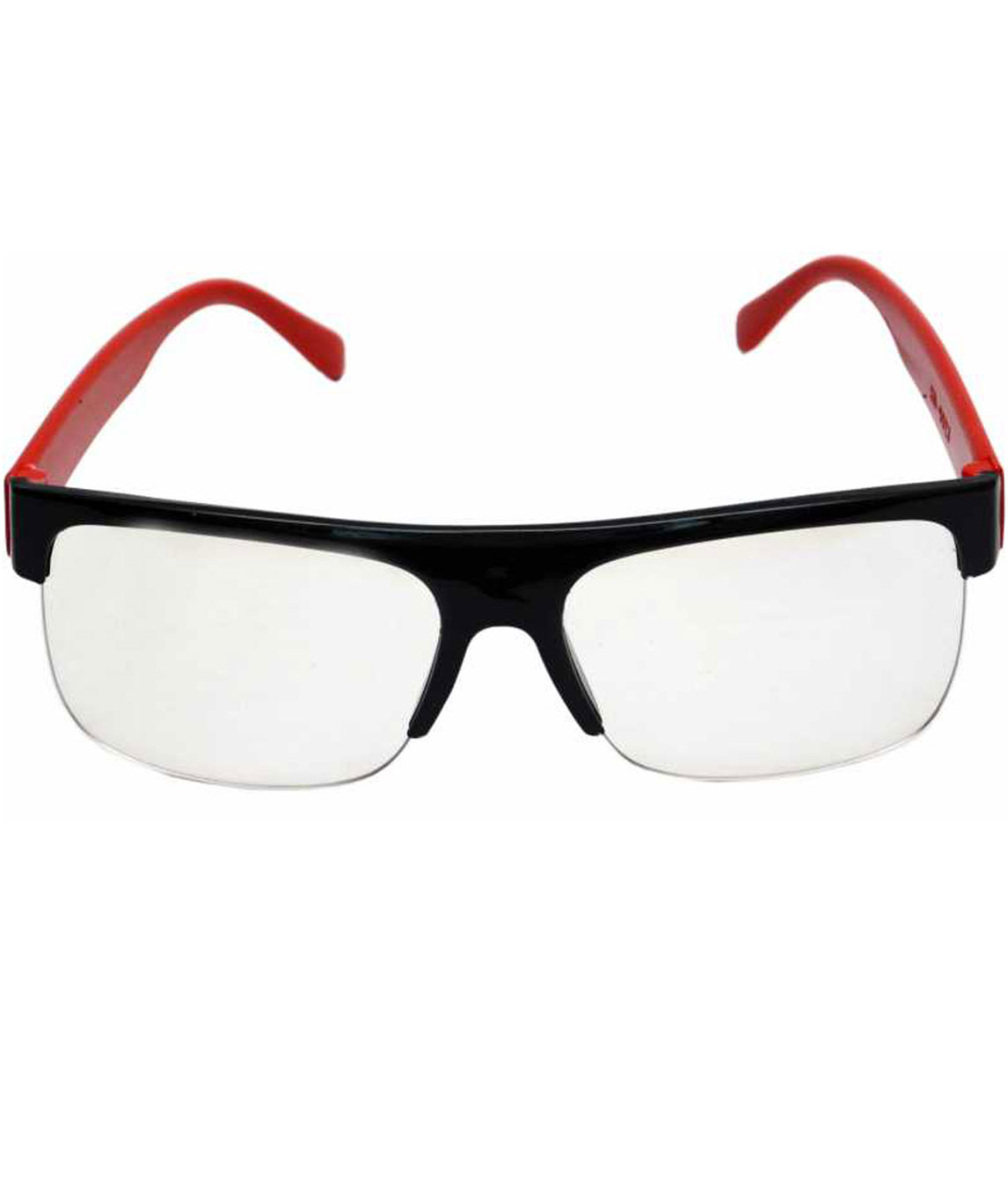 SPECTACLE SUNGLASSES (55) (CLEAR, RED)