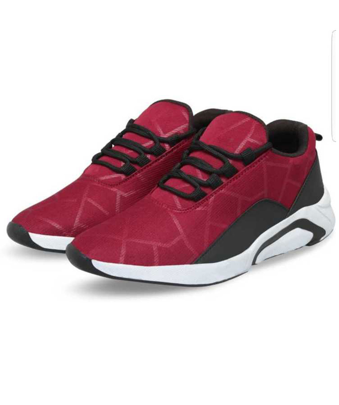 STAR SPORTS SNEAKERS OUTDOORS FOR MEN (WHITE, MAROON)