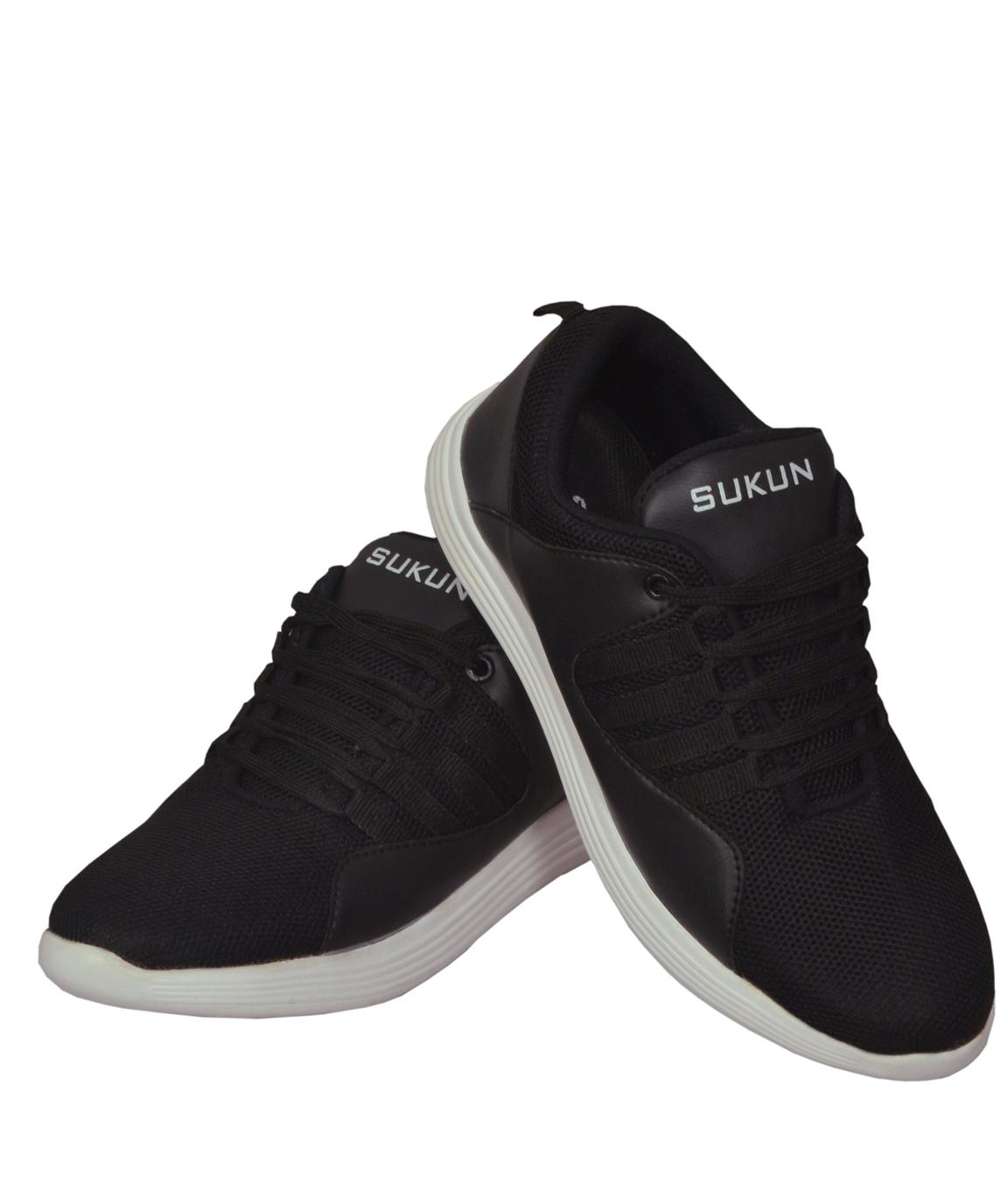 Sukun Black Sport Shoes