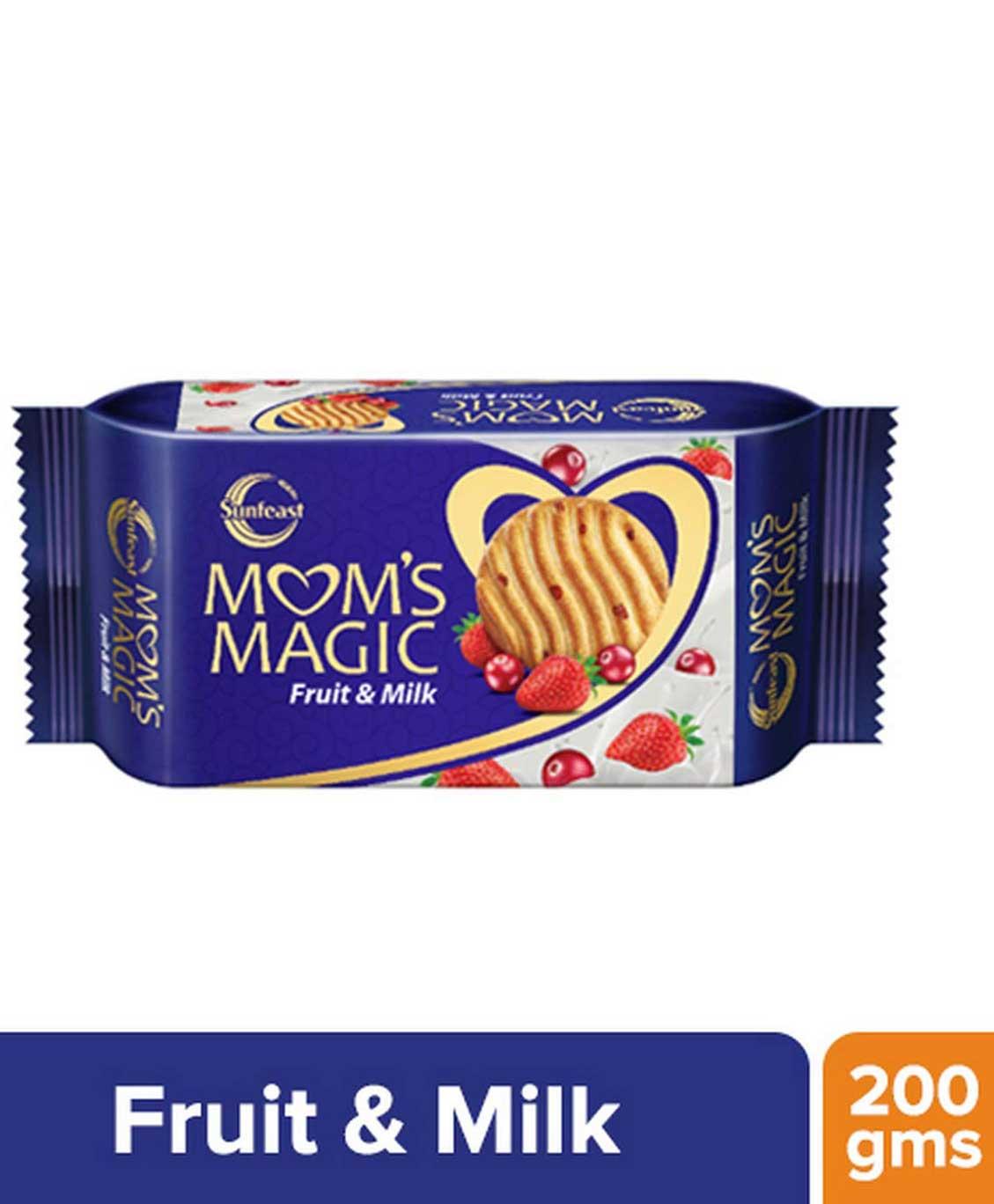 Sunfeast Mom`s Magic Biscuit, Fruit and Milk, 200g